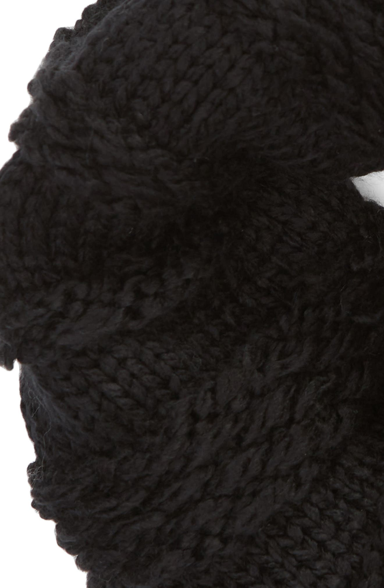 Chunky Neck Warmer,                             Alternate thumbnail 3, color,                             BLACK