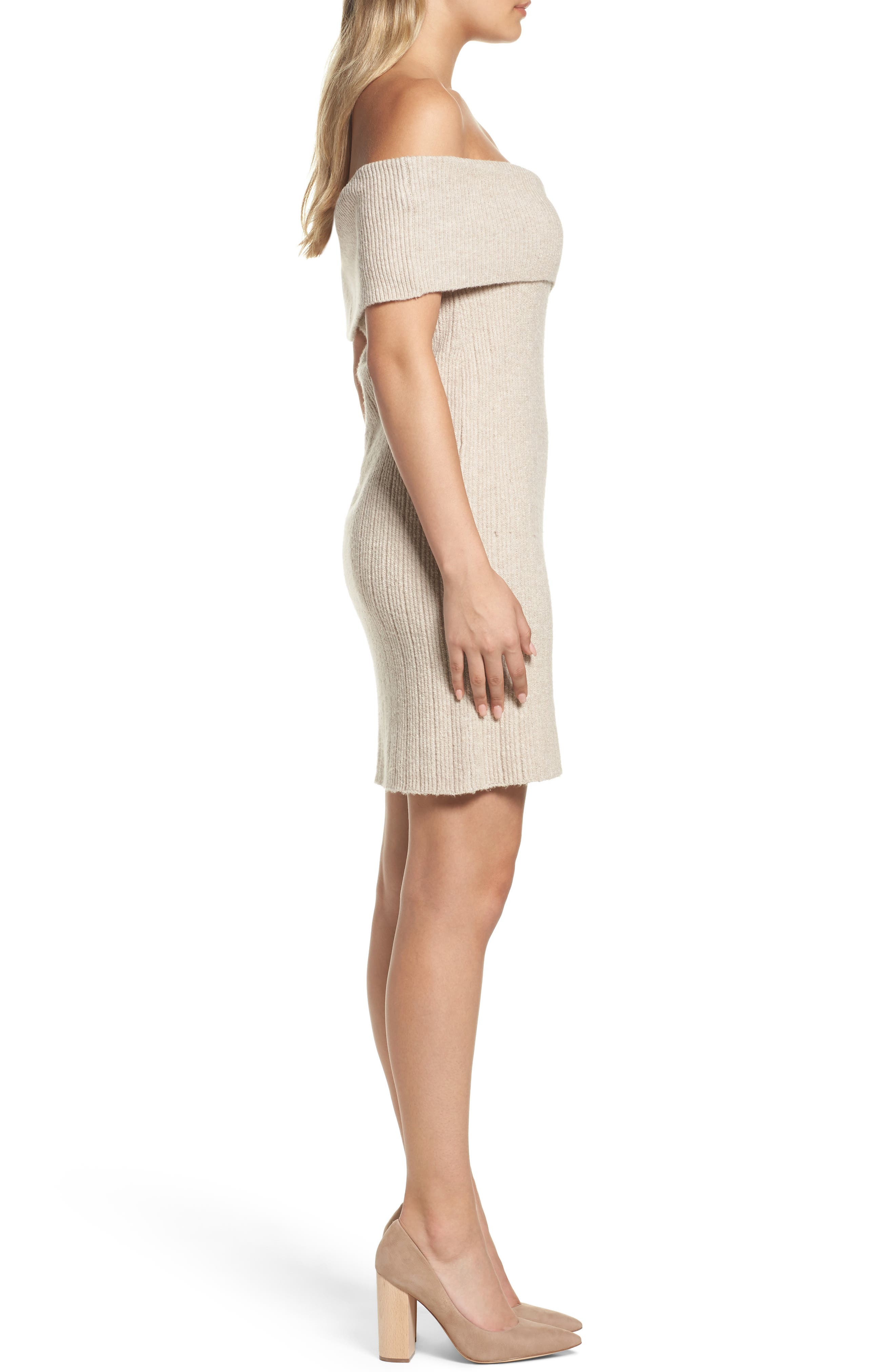 Porter Off the Shoulder Sheath Dress,                             Alternate thumbnail 6, color,