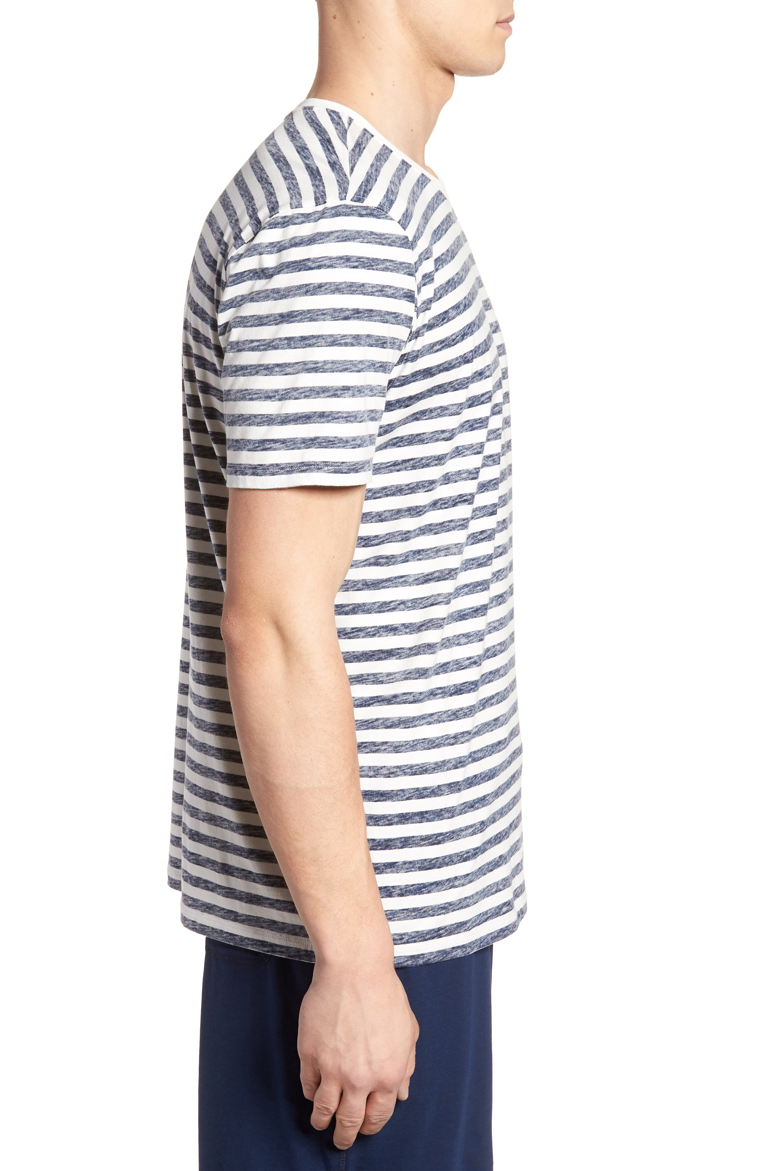 Stripe T-Shirt,                             Alternate thumbnail 3, color,                             NAVY STRIPE