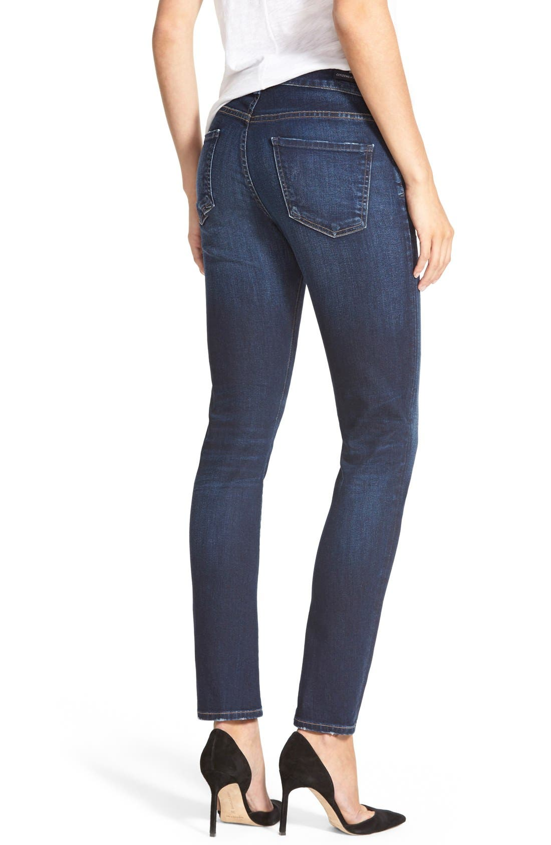 'Arielle' Mid Rise Slim Jeans,                             Alternate thumbnail 5, color,                             463