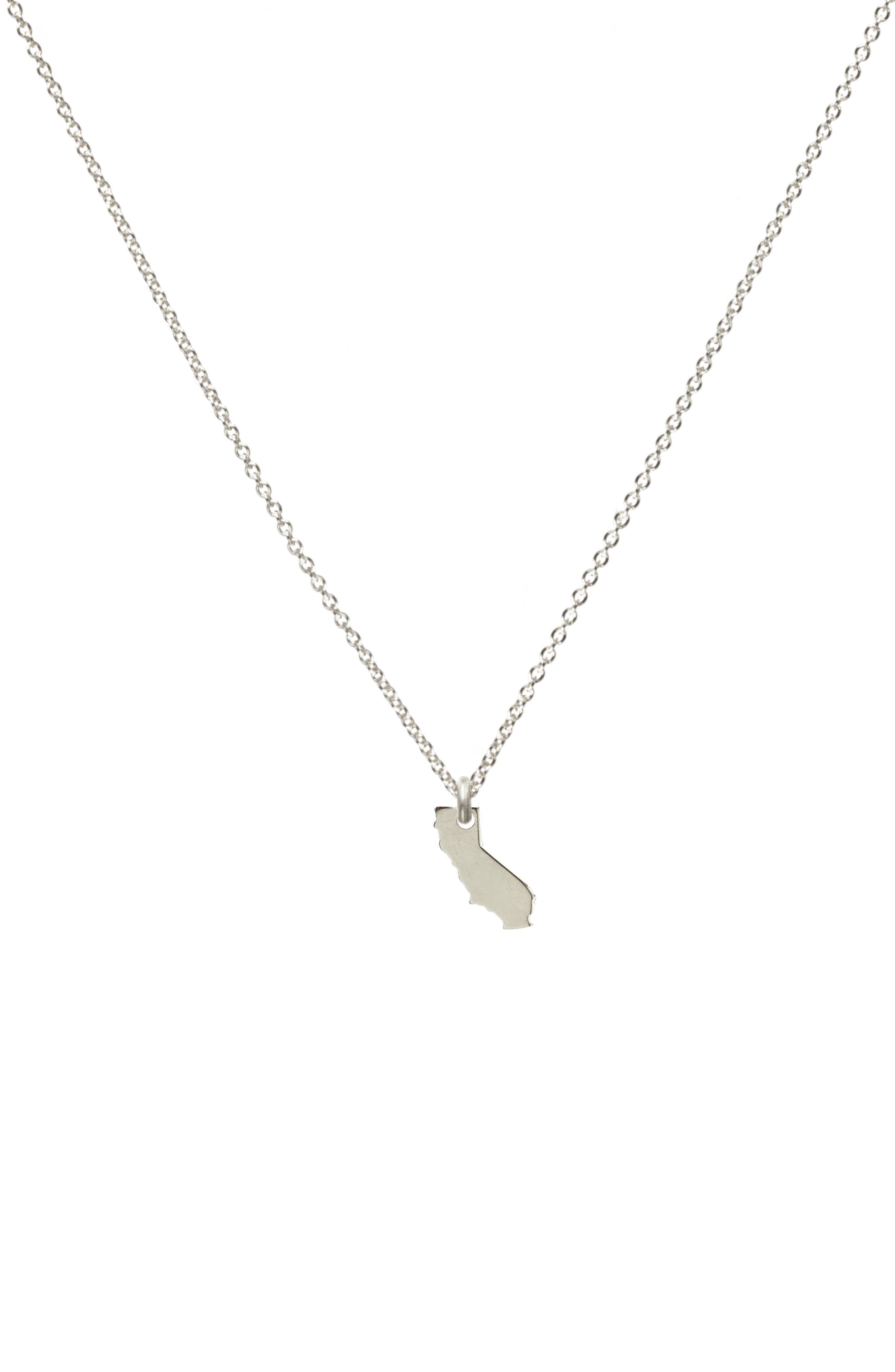 I Heart California Pendant Necklace,                         Main,                         color, 042