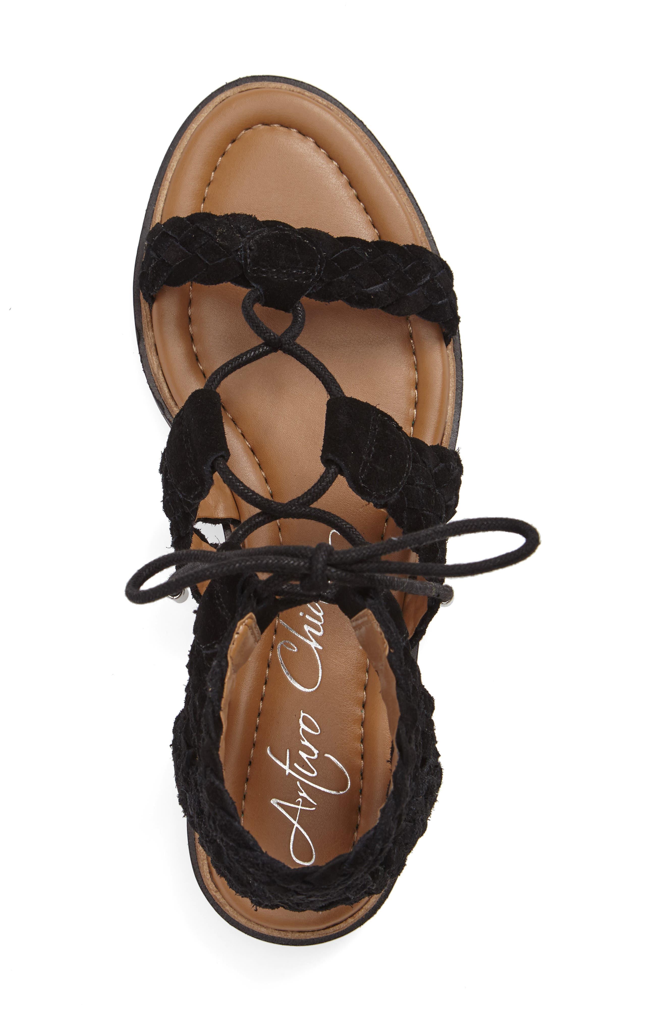 Cassie Lace-Up Sandal,                             Alternate thumbnail 3, color,                             001