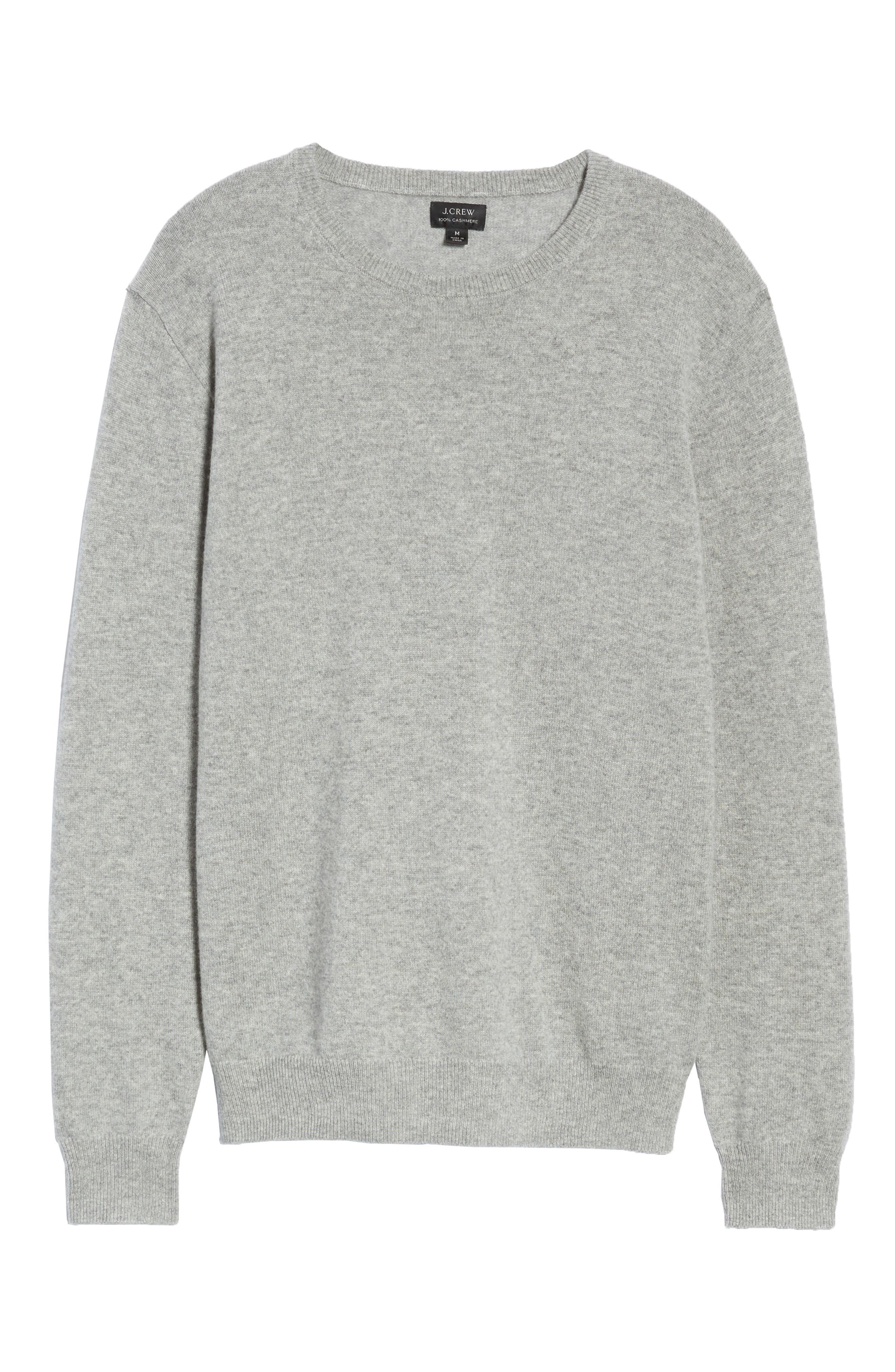 Everyday Cashmere Regular Fit Crewneck Sweater,                             Alternate thumbnail 6, color,                             HEATHER GREY