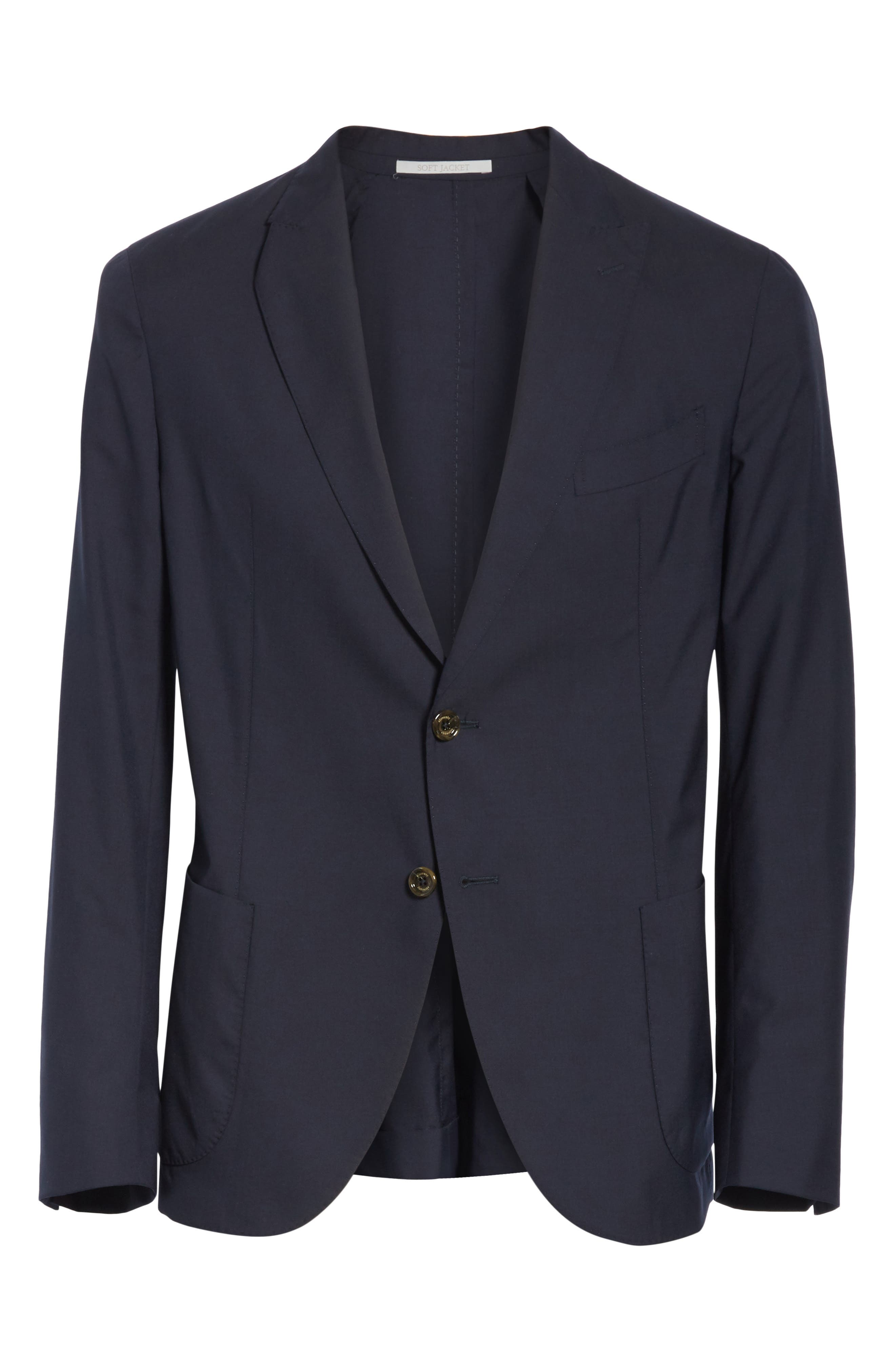 Trim Fit Wool Blazer,                             Alternate thumbnail 5, color,                             400