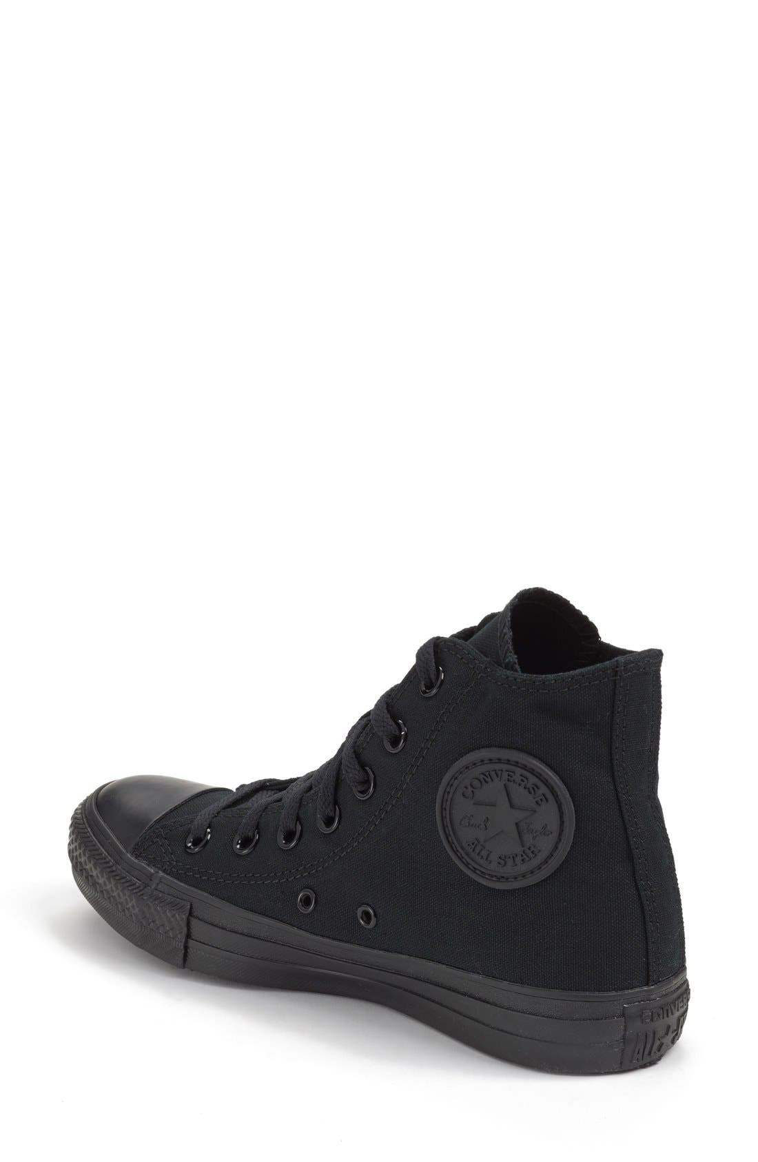 Chuck Taylor<sup>®</sup> All Star<sup>®</sup> Monochrome High Top Sneaker,                             Alternate thumbnail 4, color,                             001
