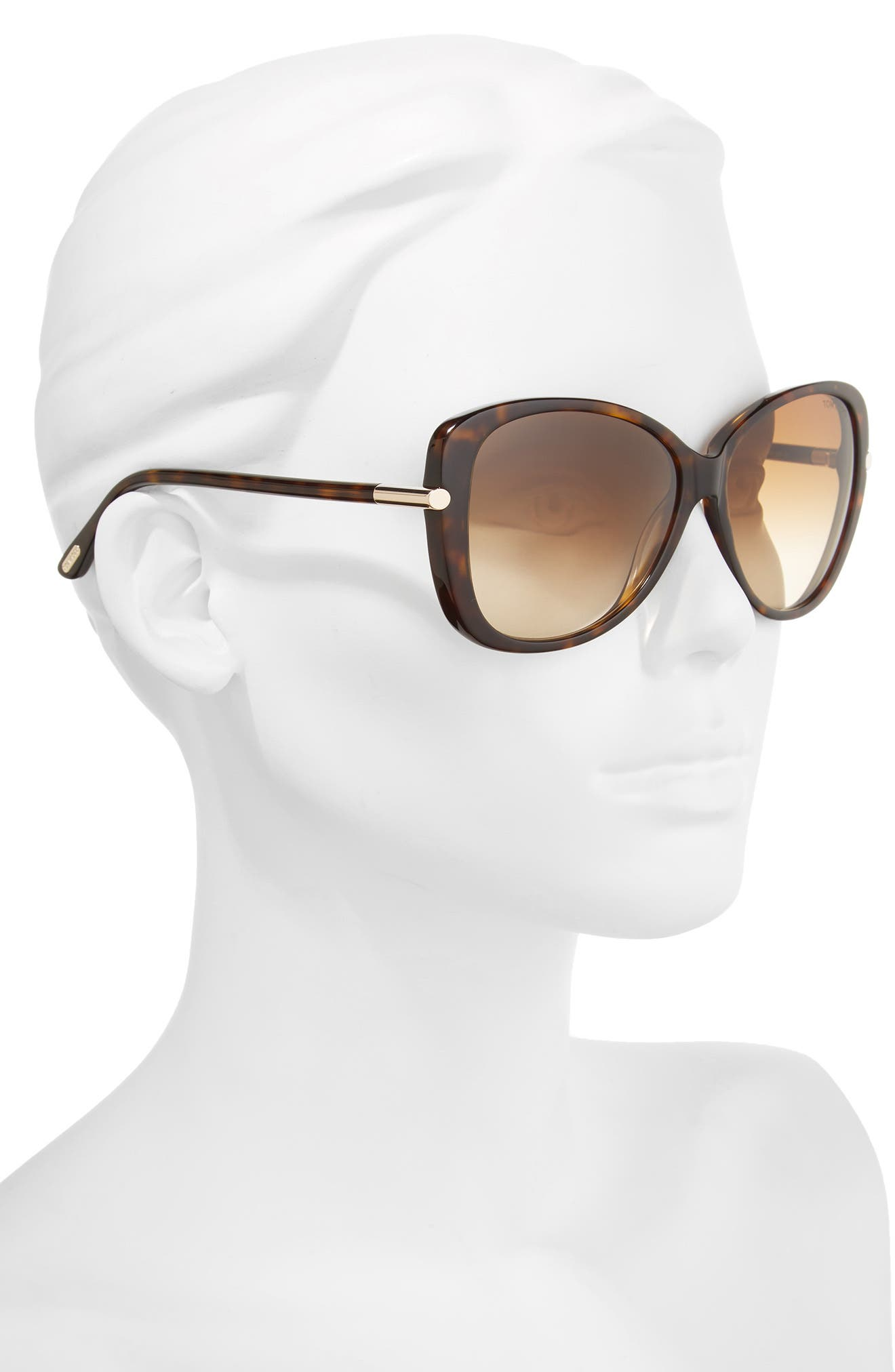 TOM FORD,                             Linda 59mm Gradient Butterfly Sunglasses,                             Alternate thumbnail 2, color,                             200