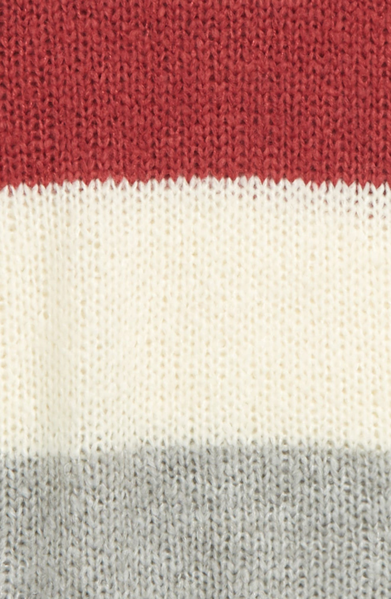 Colorblock Sweater,                             Alternate thumbnail 2, color,                             PINK PEACHSKIN MULTI STRIPE
