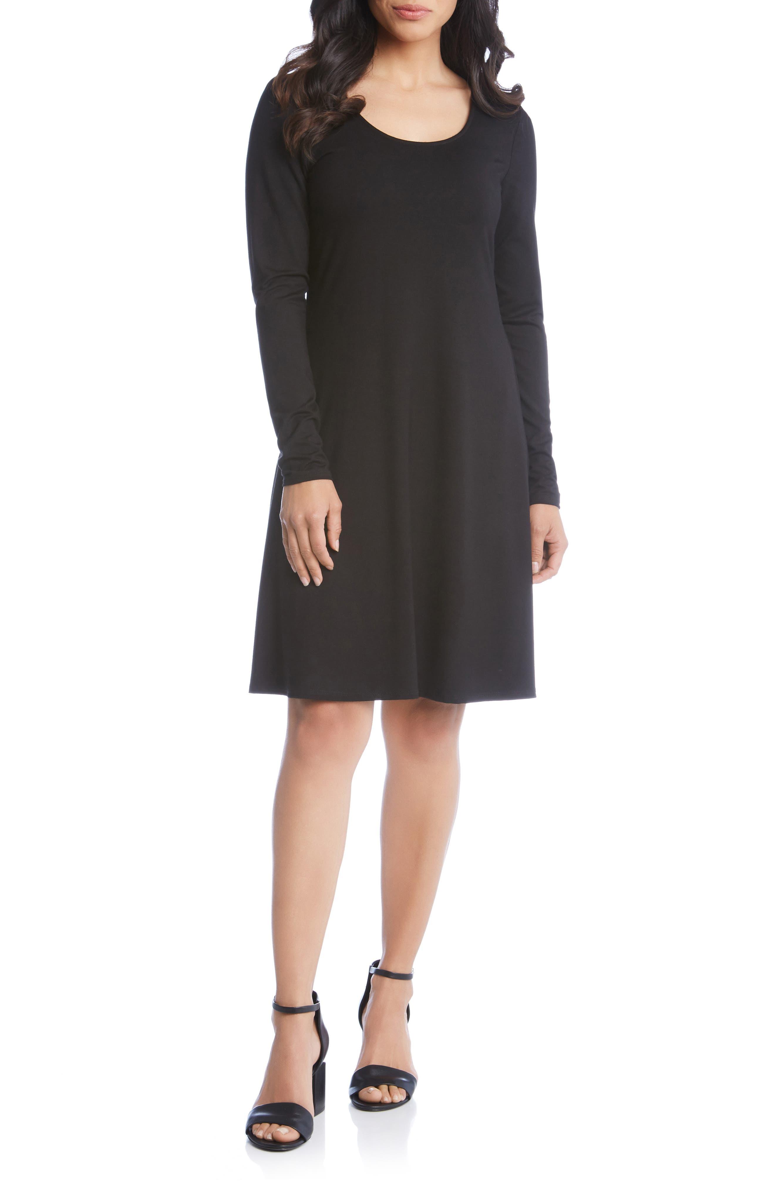 Karen Kane Erin A-Line Dress, Black