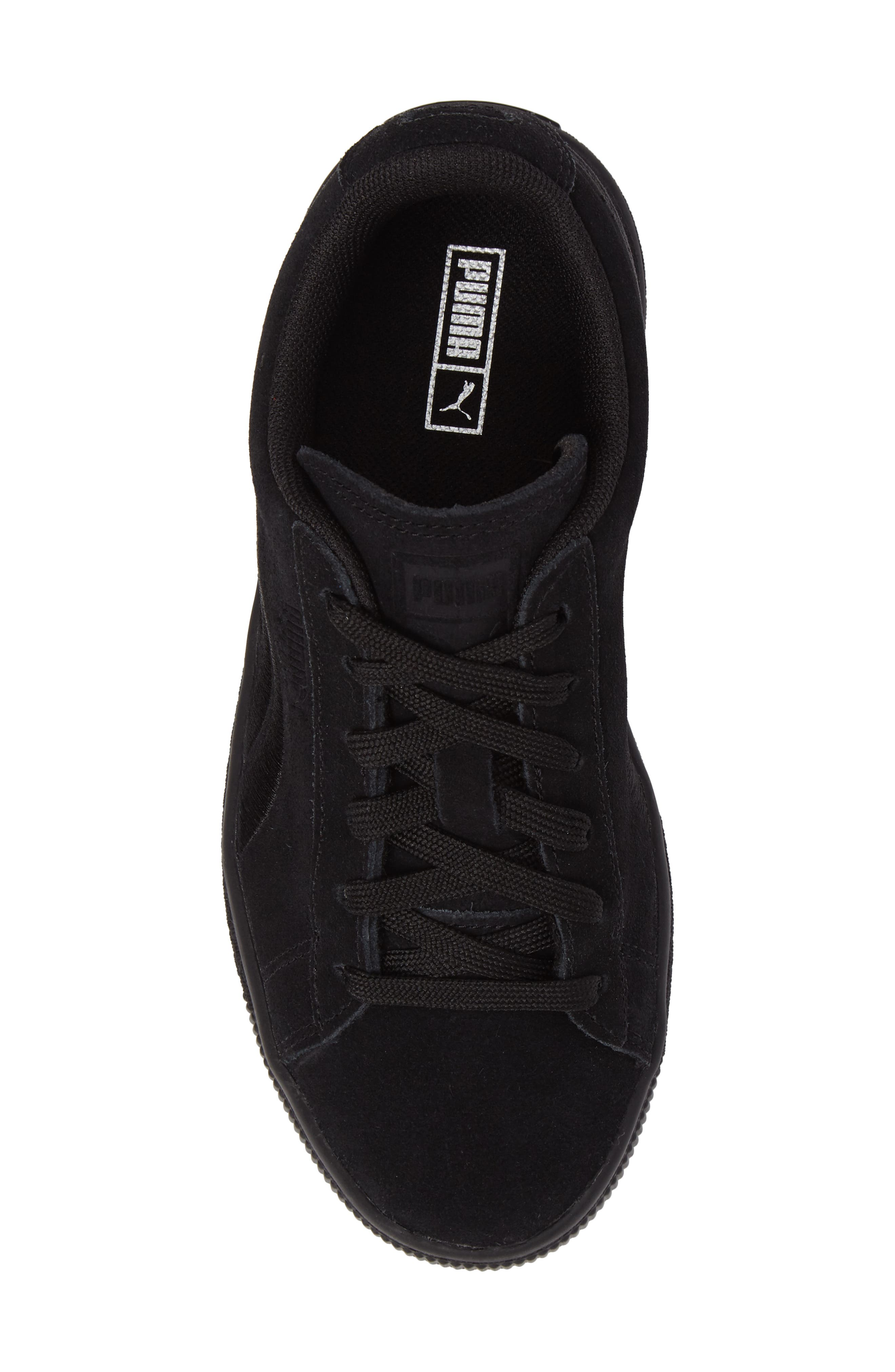 Suede Classic Badge PS Sneaker,                             Alternate thumbnail 5, color,                             001