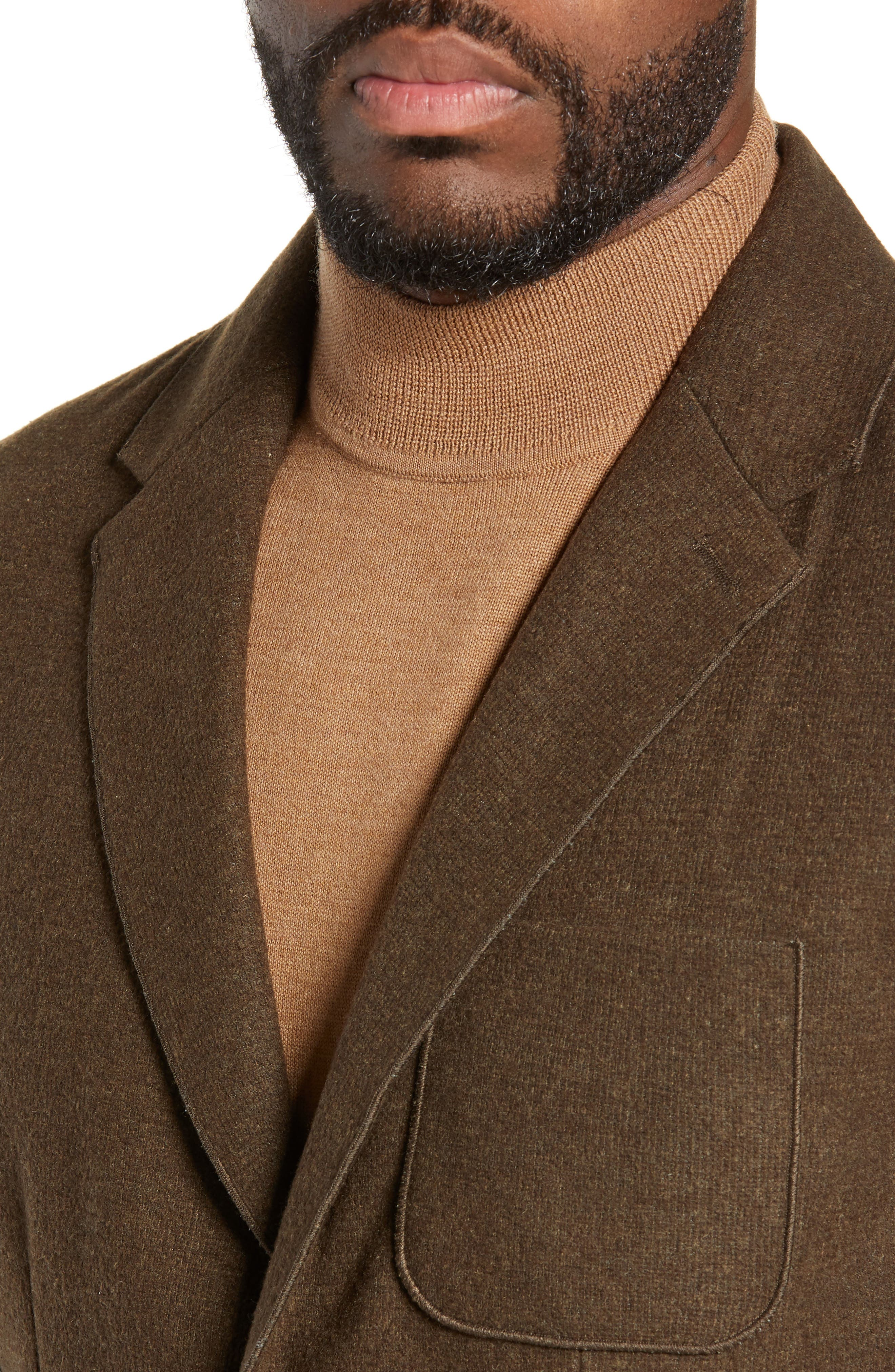 Plymouth Regular Fit Knit Sport Coat,                             Alternate thumbnail 4, color,                             BROWN