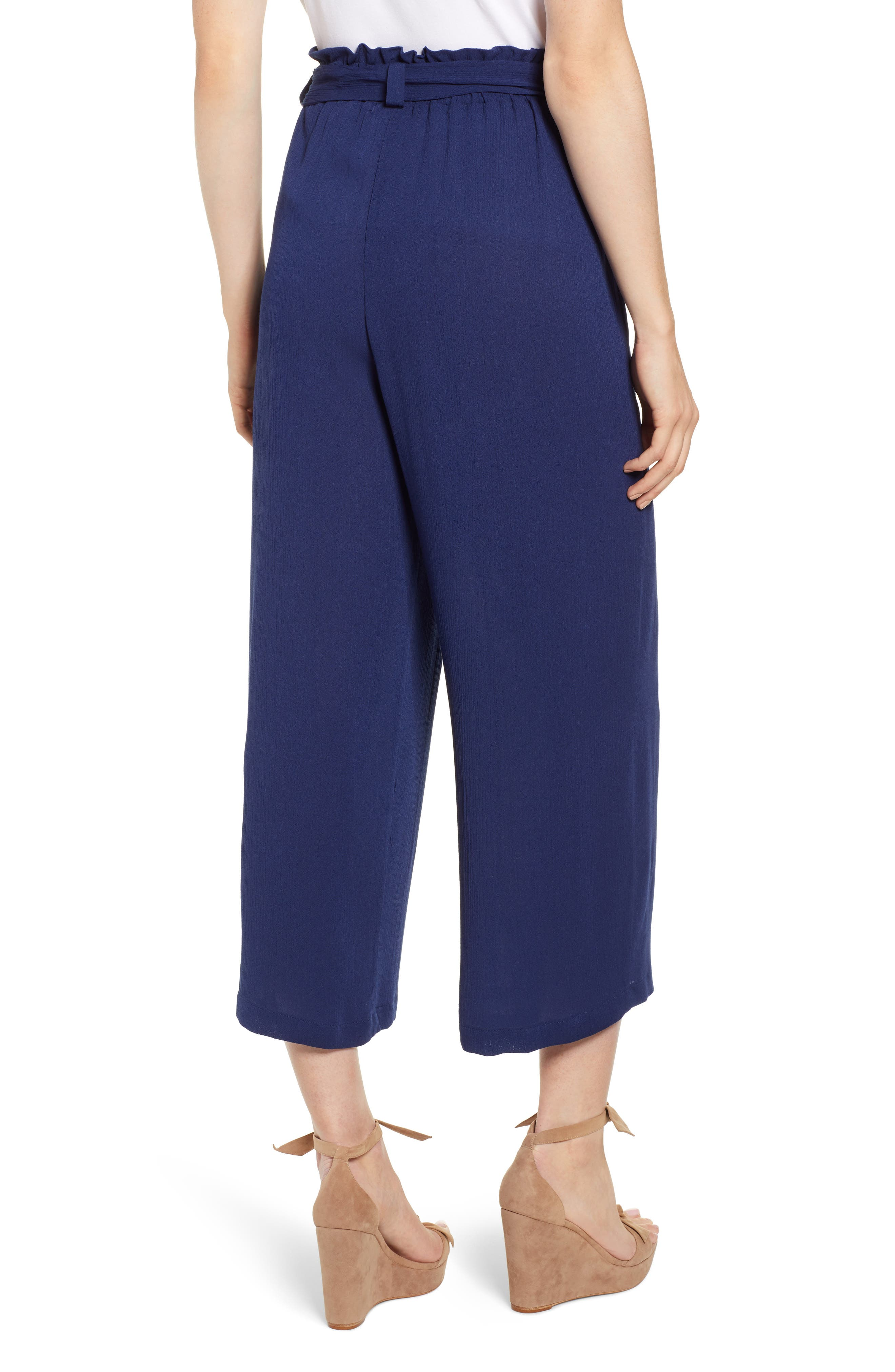 GIBSON,                             x Hi Sugarplum! Sedona Wide Leg Ankle Pants,                             Alternate thumbnail 2, color,                             CHAMBRAY SOLID