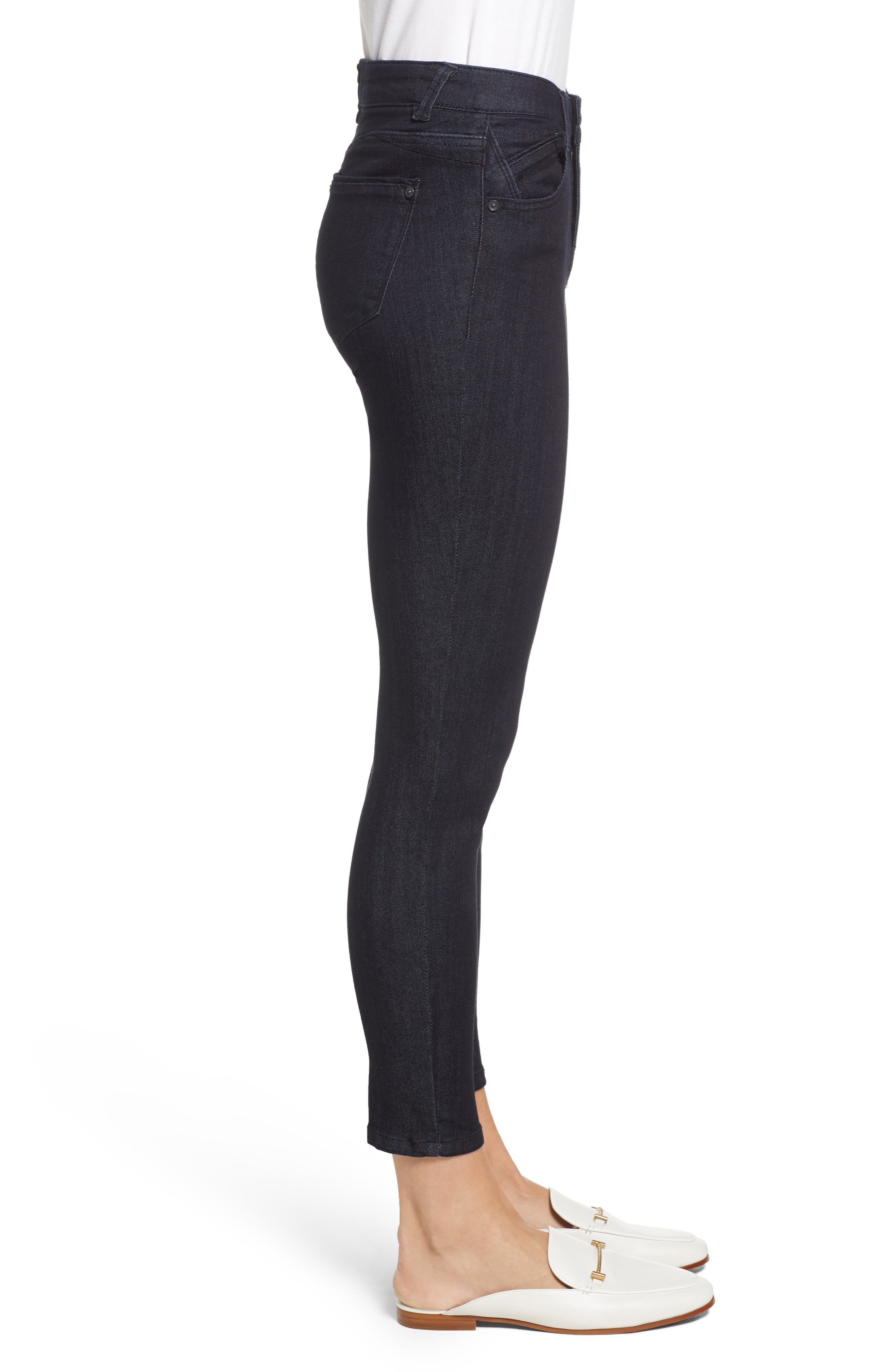 Ab-solution Ankle Skinny Jeans,                             Alternate thumbnail 3, color,                             INDIGO