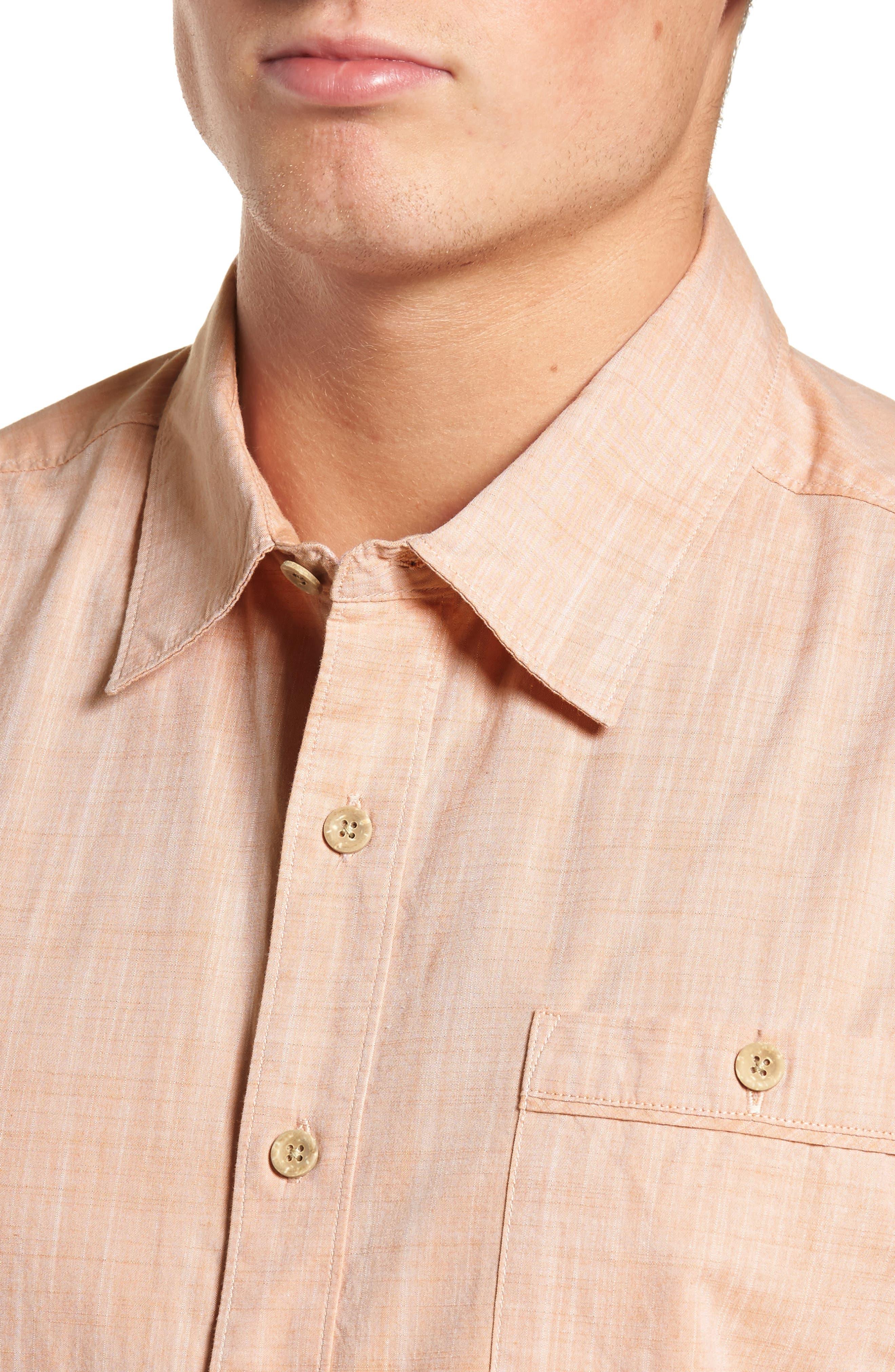 Mai Tai Regular Fit Sport Shirt,                             Alternate thumbnail 4, color,