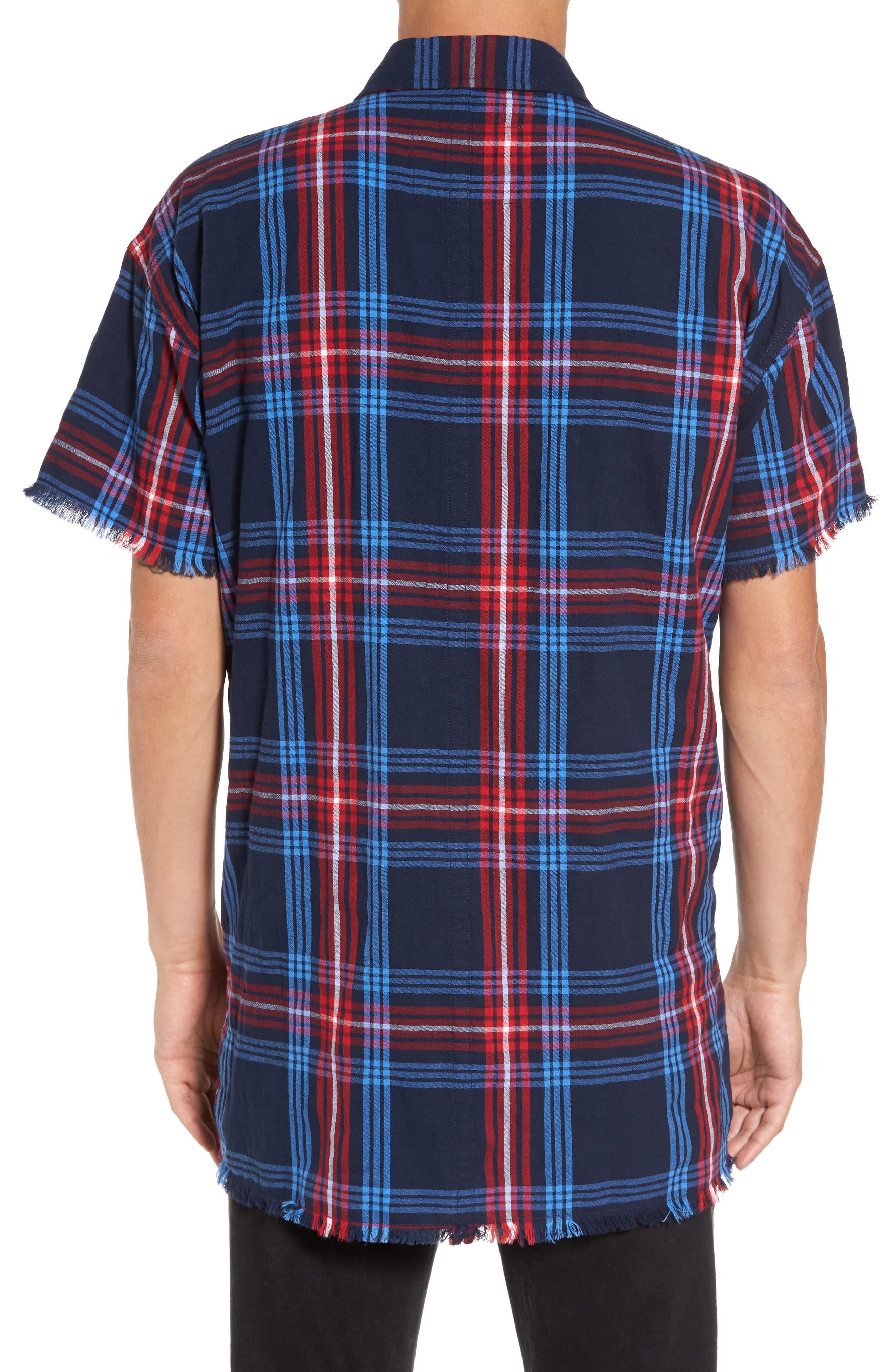 Raw Edge Plaid Woven Shirt,                             Alternate thumbnail 2, color,                             400