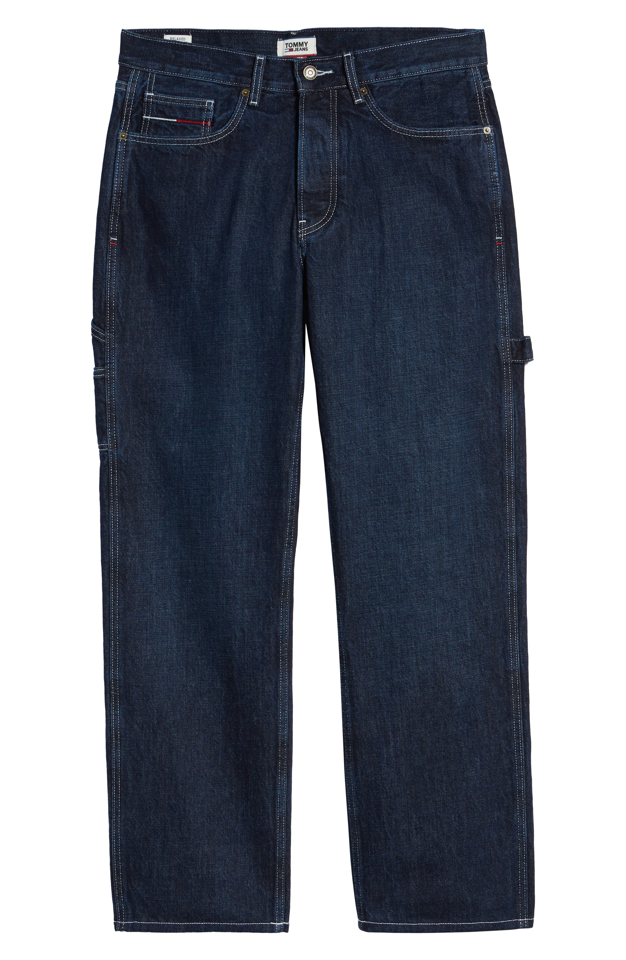 TJM 1986 Relaxed Carpenter Pants,                             Alternate thumbnail 6, color,                             CONTRAST DARK RIG