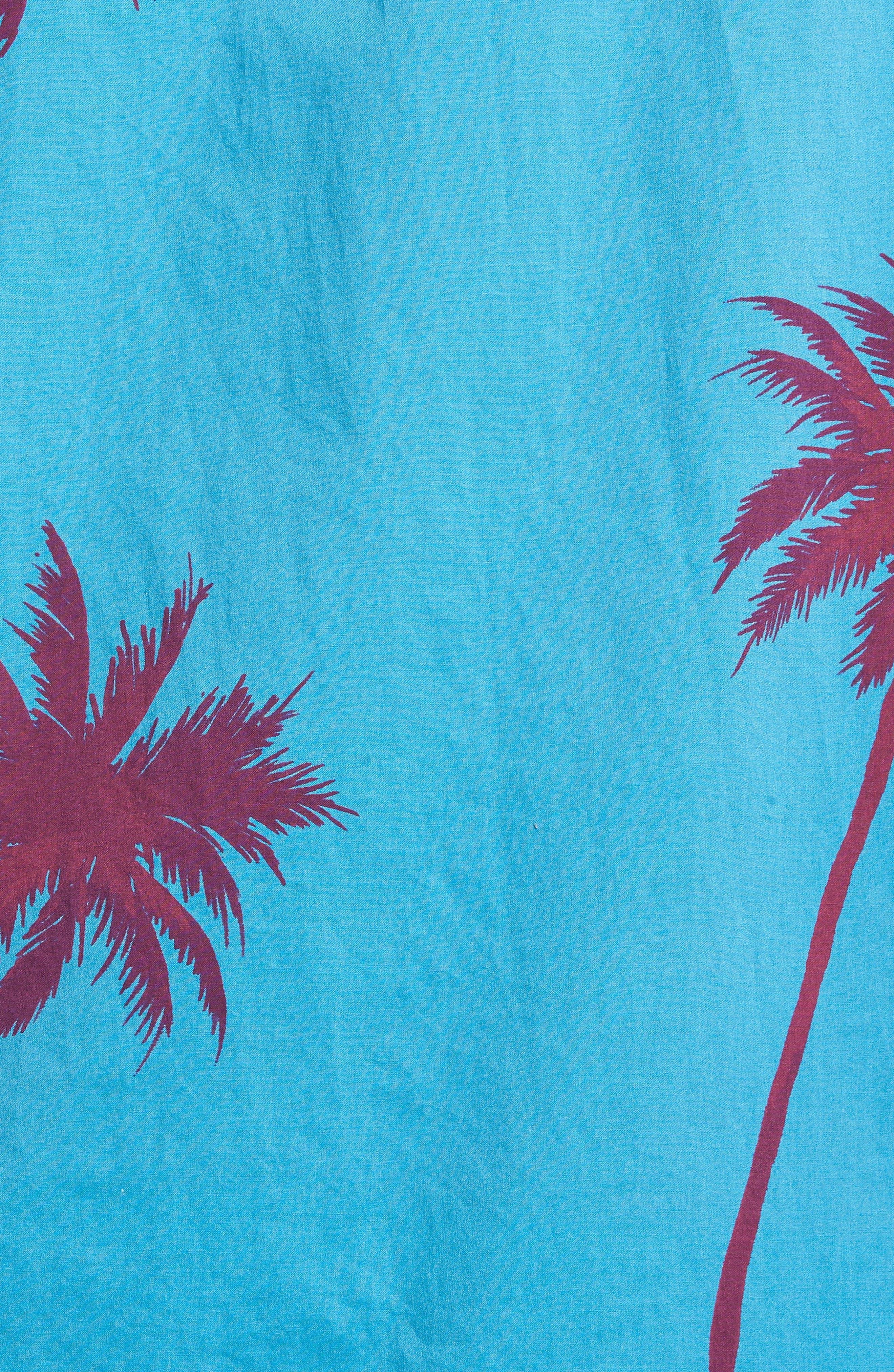 Slim Fit Palm Tree Sport Shirt,                             Alternate thumbnail 5, color,                             400