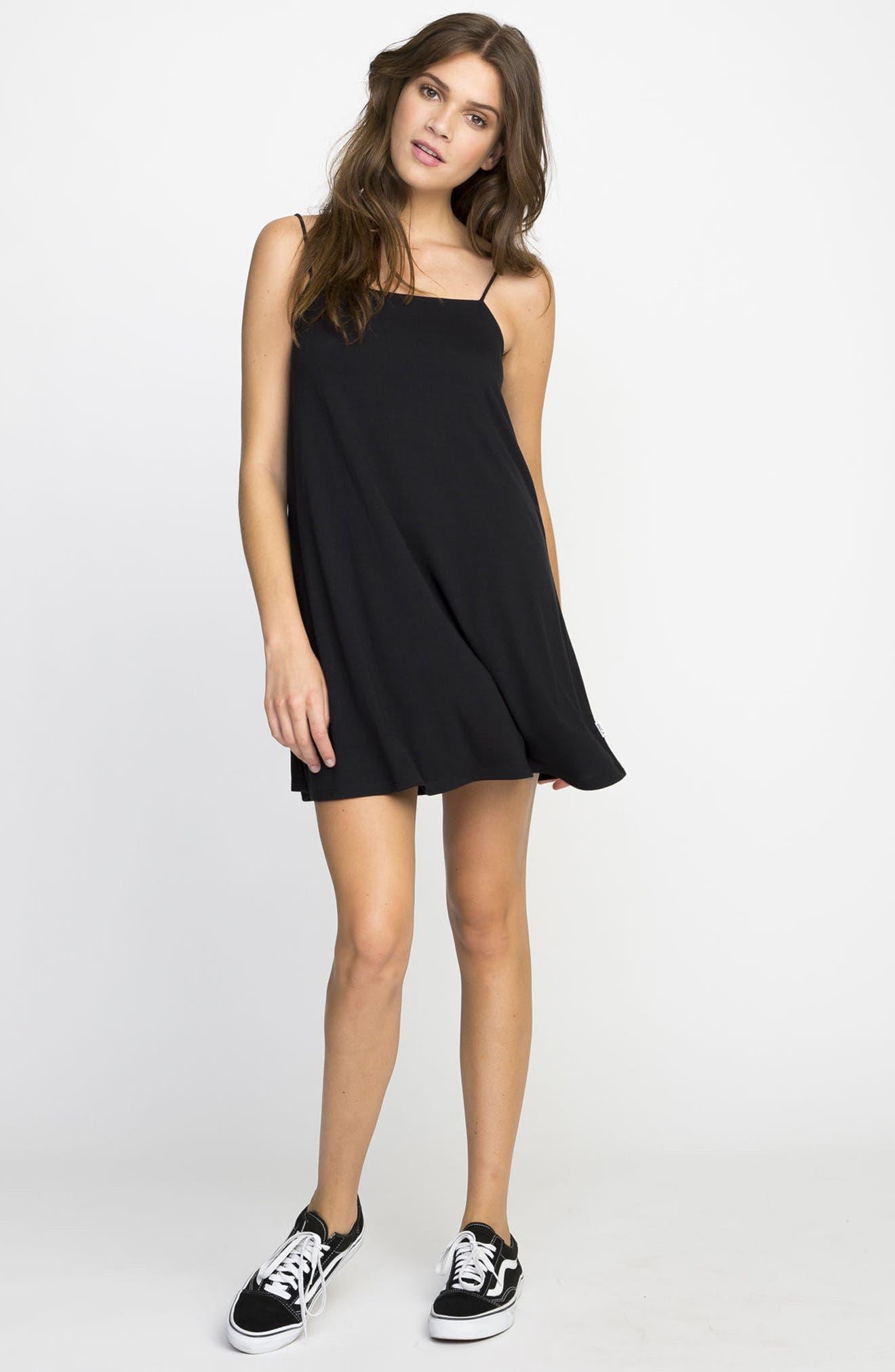 Rachel Camisole Dress,                             Alternate thumbnail 7, color,                             001