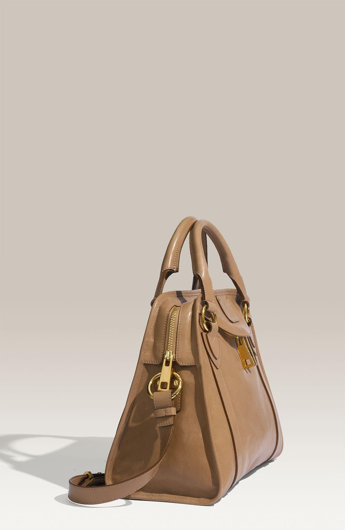 'Classic Wellington' Leather Satchel,                             Alternate thumbnail 20, color,