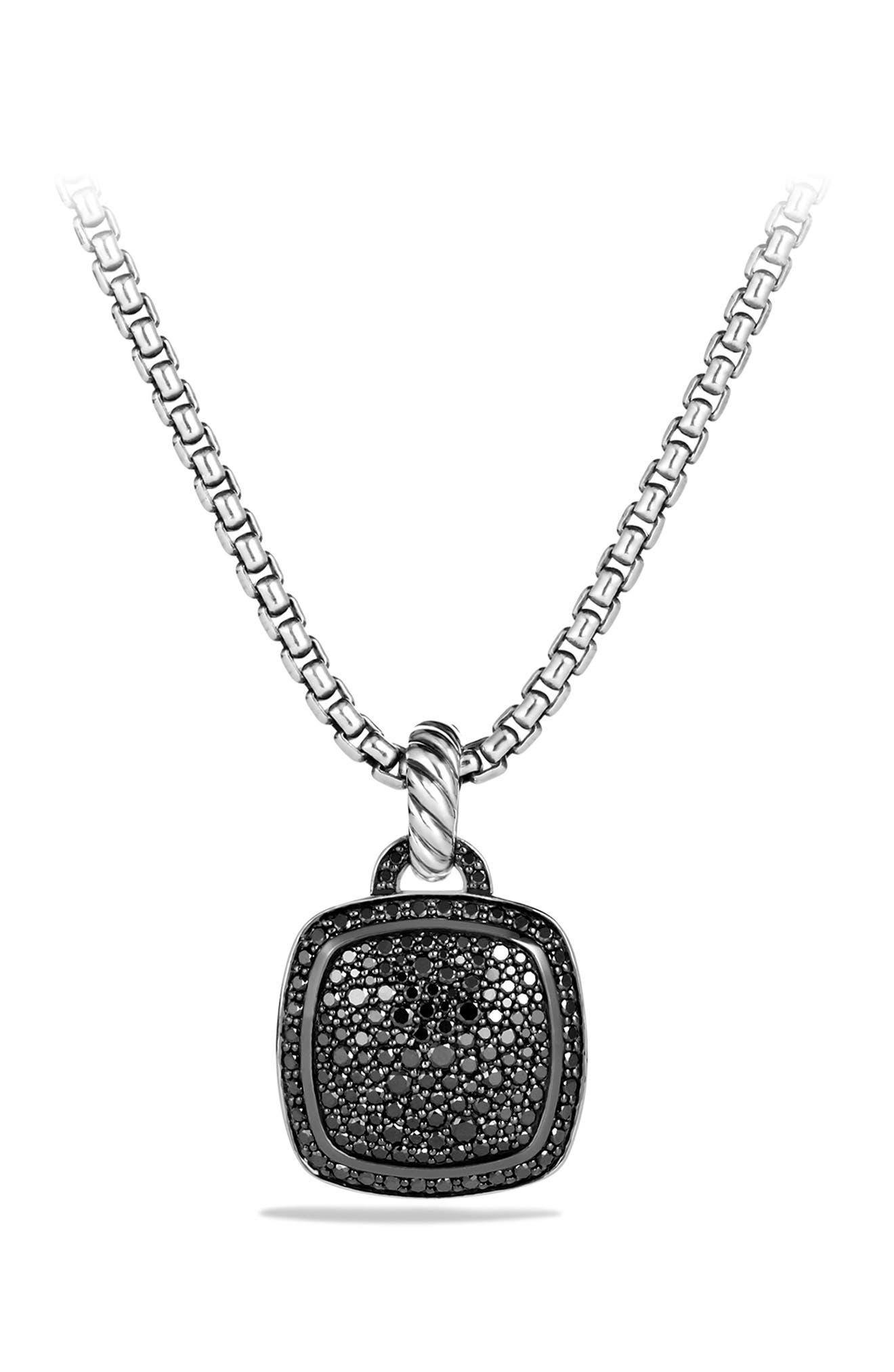 'Albion' Pendant with Diamonds,                             Alternate thumbnail 7, color,                             BLACK DIAMOND
