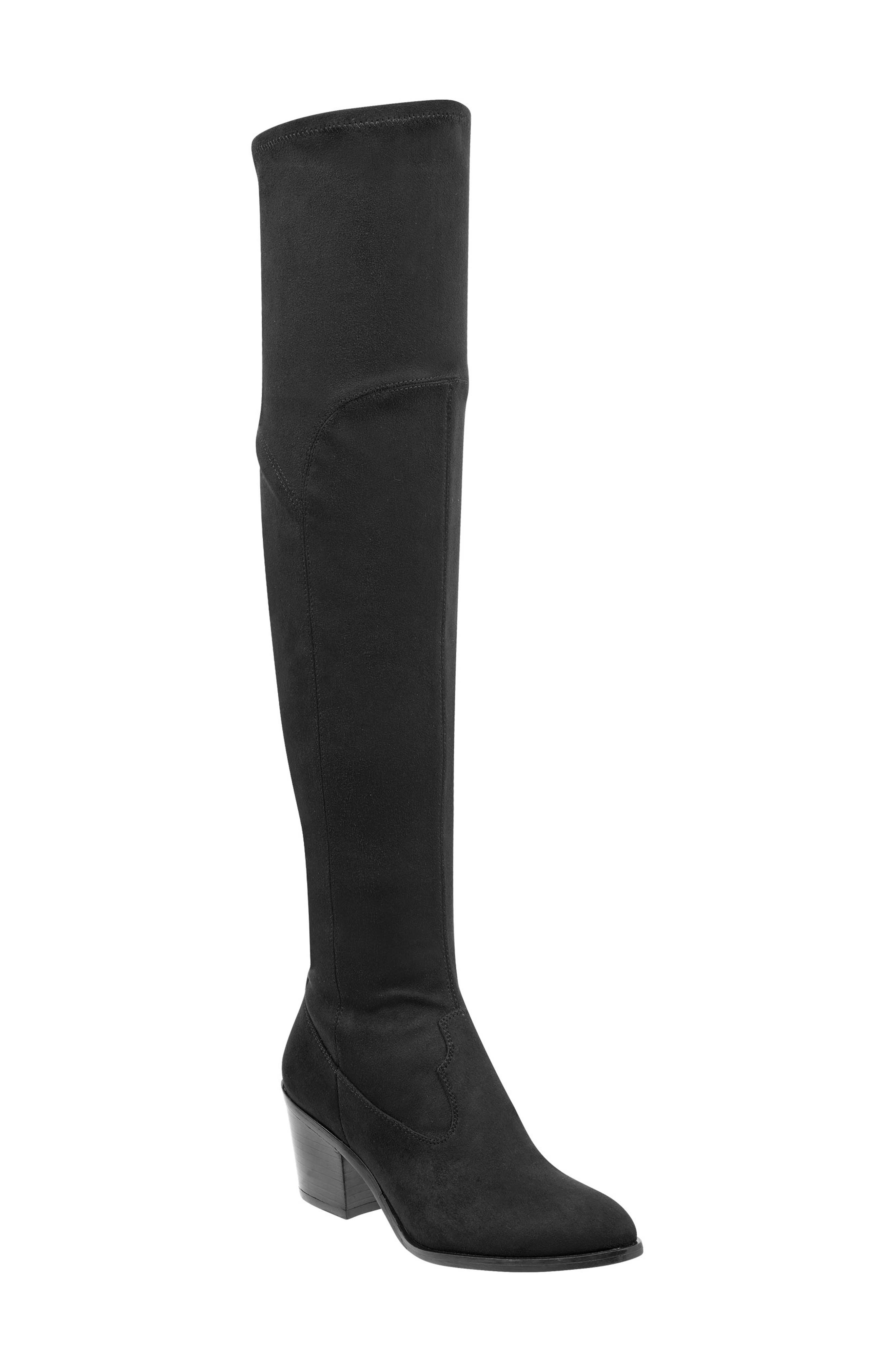 Rossa Over the Knee Boot,                         Main,                         color, BLACK SUEDE