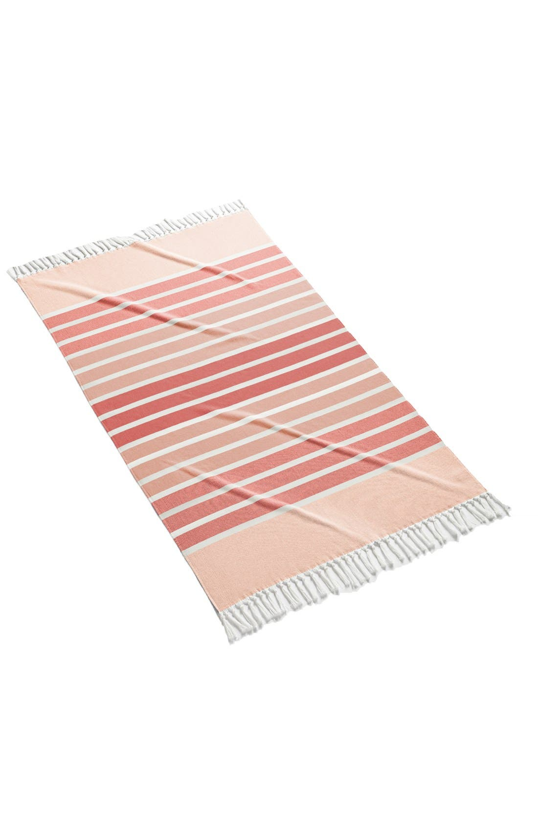 'Bodrum' Cotton Beach Towel,                         Main,                         color, CORAL