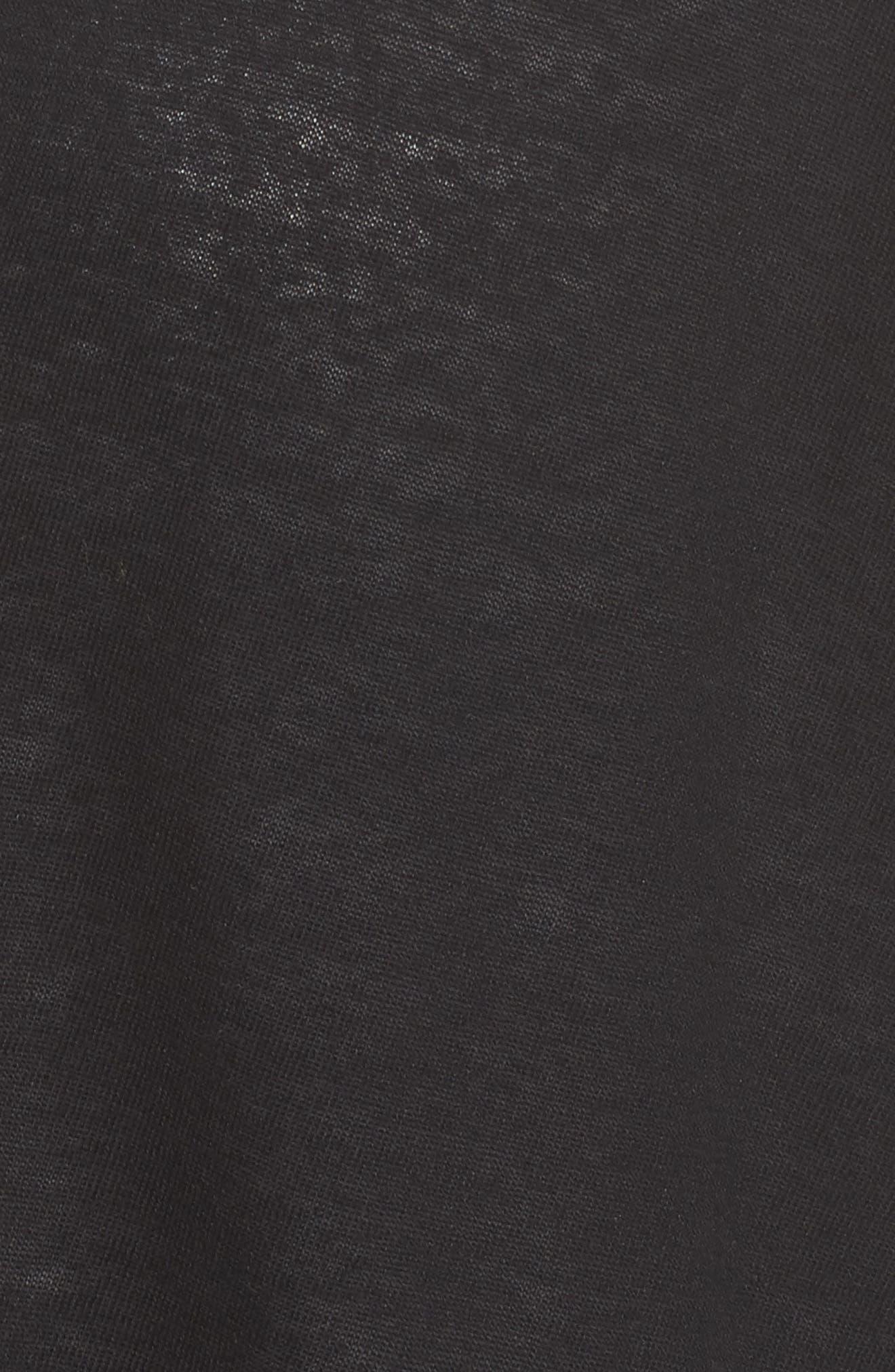 Side Slit Open Front Cardigan,                             Alternate thumbnail 5, color,                             001