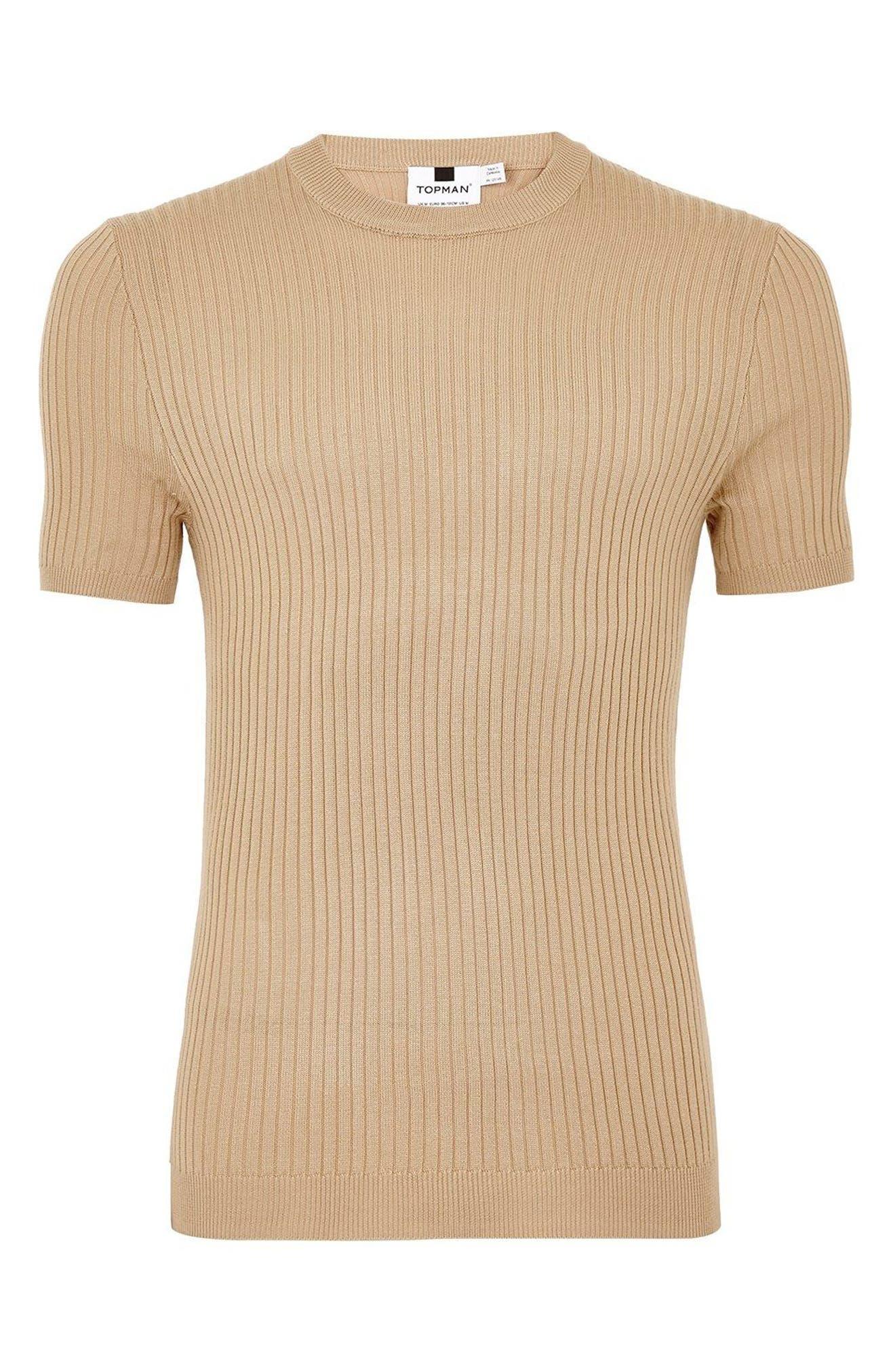 TOPMAN,                             Short Sleeve Muscle Fit Shirt,                             Alternate thumbnail 4, color,                             250