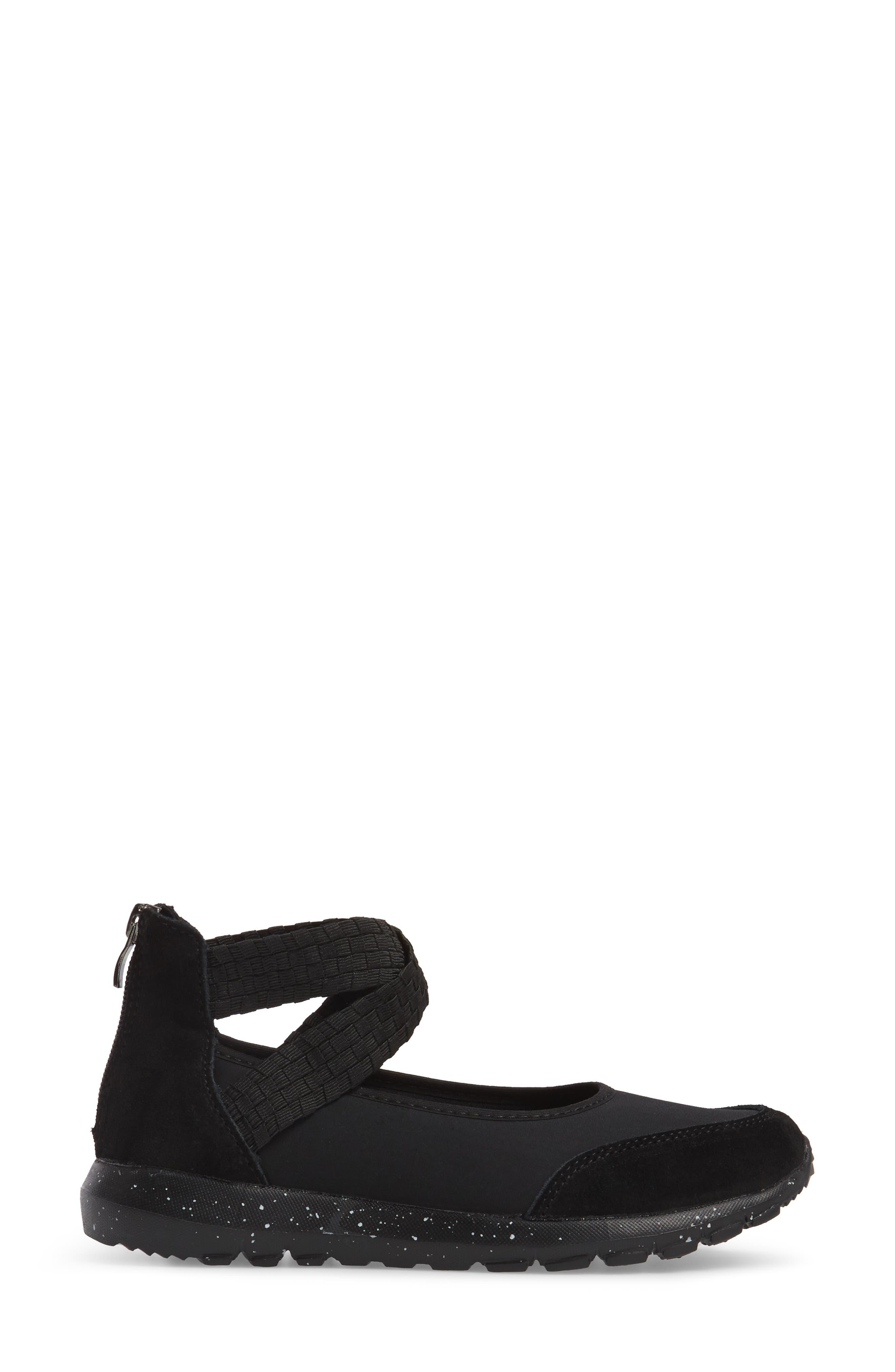 Bernie Mev Runner Flow Sneaker,                             Alternate thumbnail 3, color,                             001