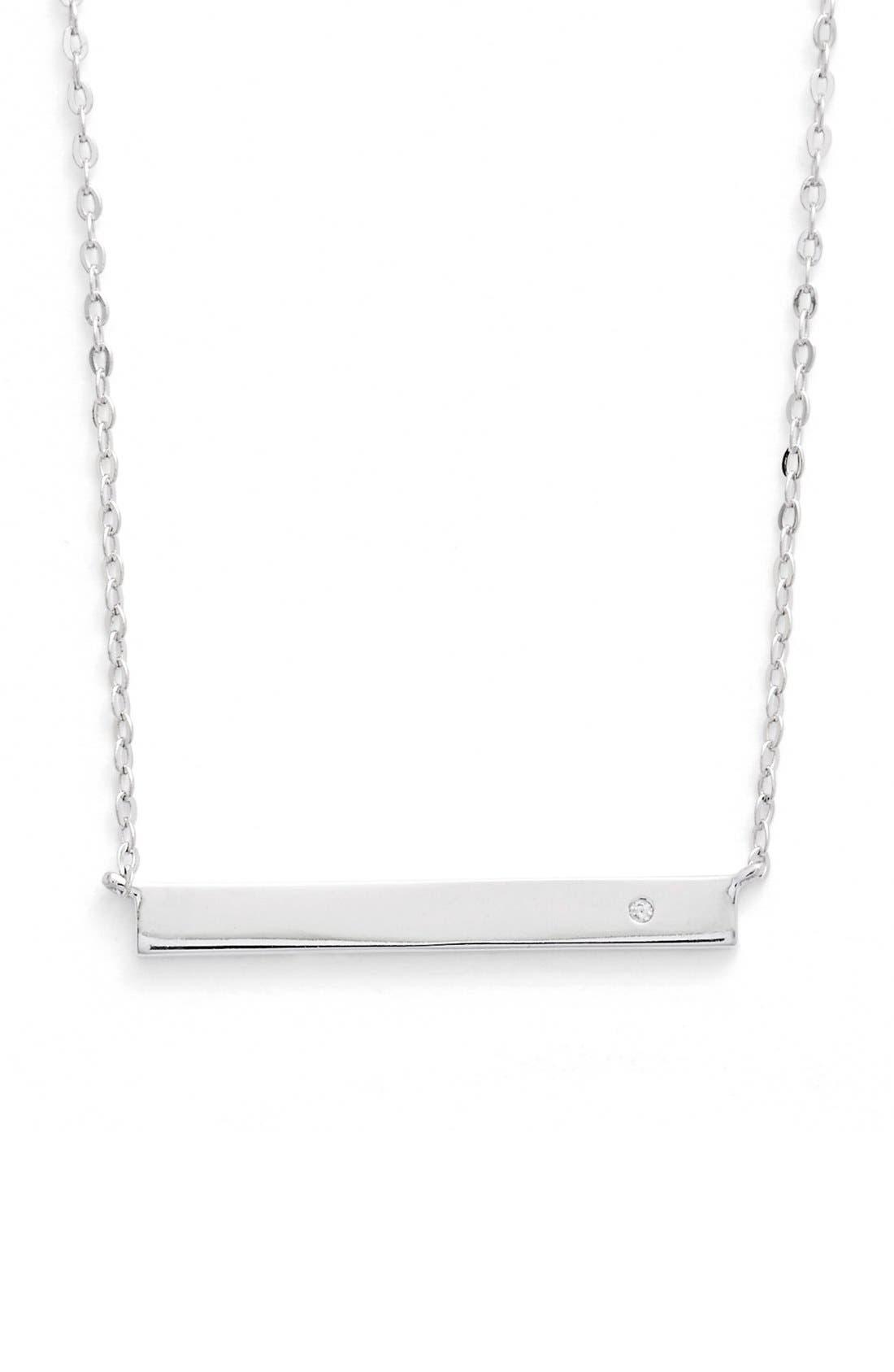 NADRI,                             'Goldie' Bar Pendant Necklace,                             Alternate thumbnail 2, color,                             040