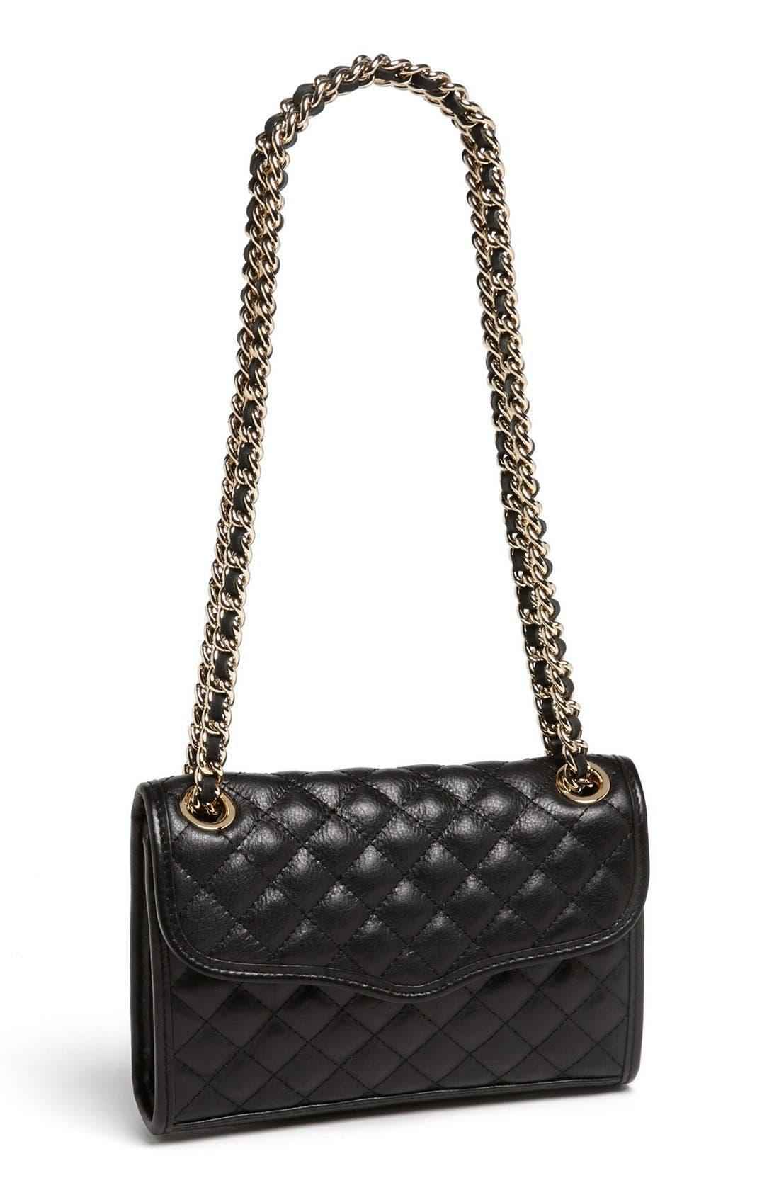 'Quilted Mini Affair' Convertible Crossbody Bag,                             Main thumbnail 1, color,                             001