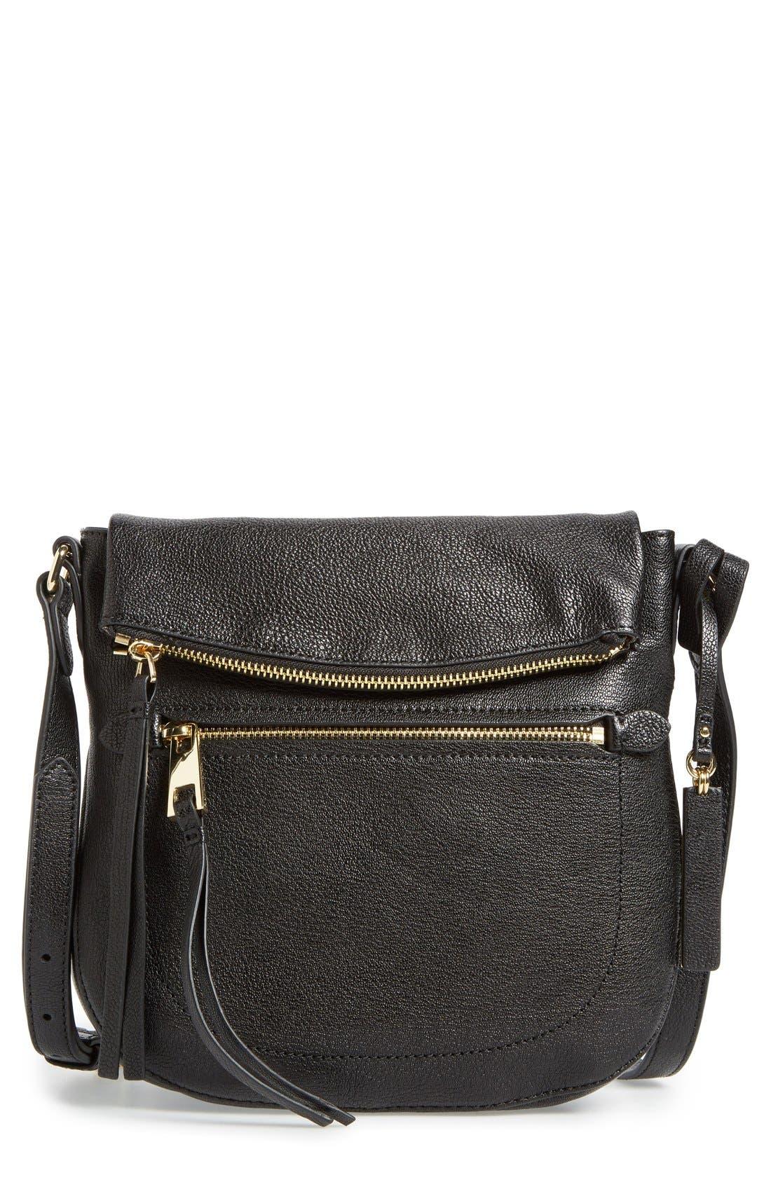 'Tala' Leather Crossbody Bag,                             Main thumbnail 1, color,                             001