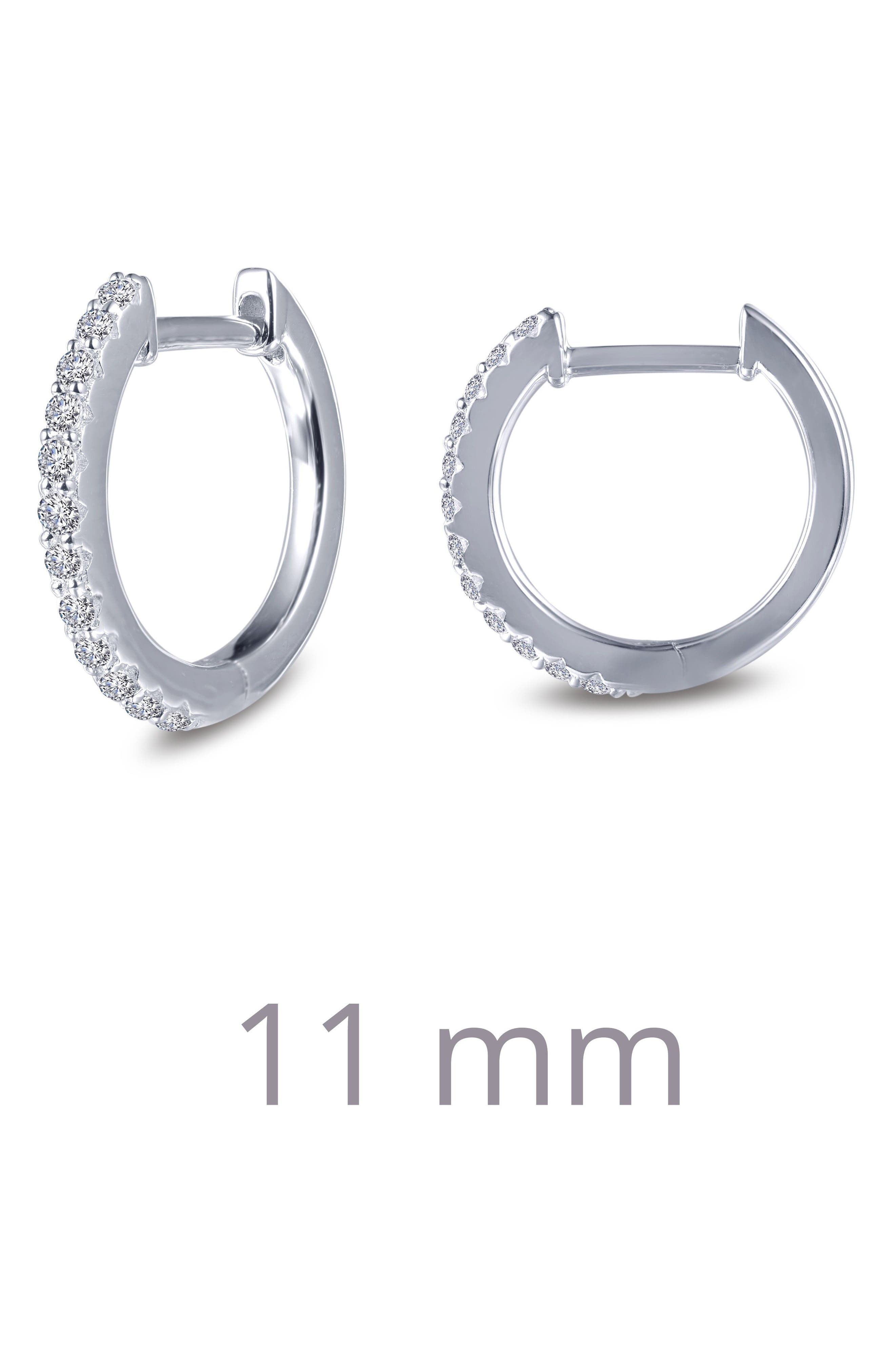 Round Hoop Earrings,                             Alternate thumbnail 3, color,                             SILVER/ CLEAR