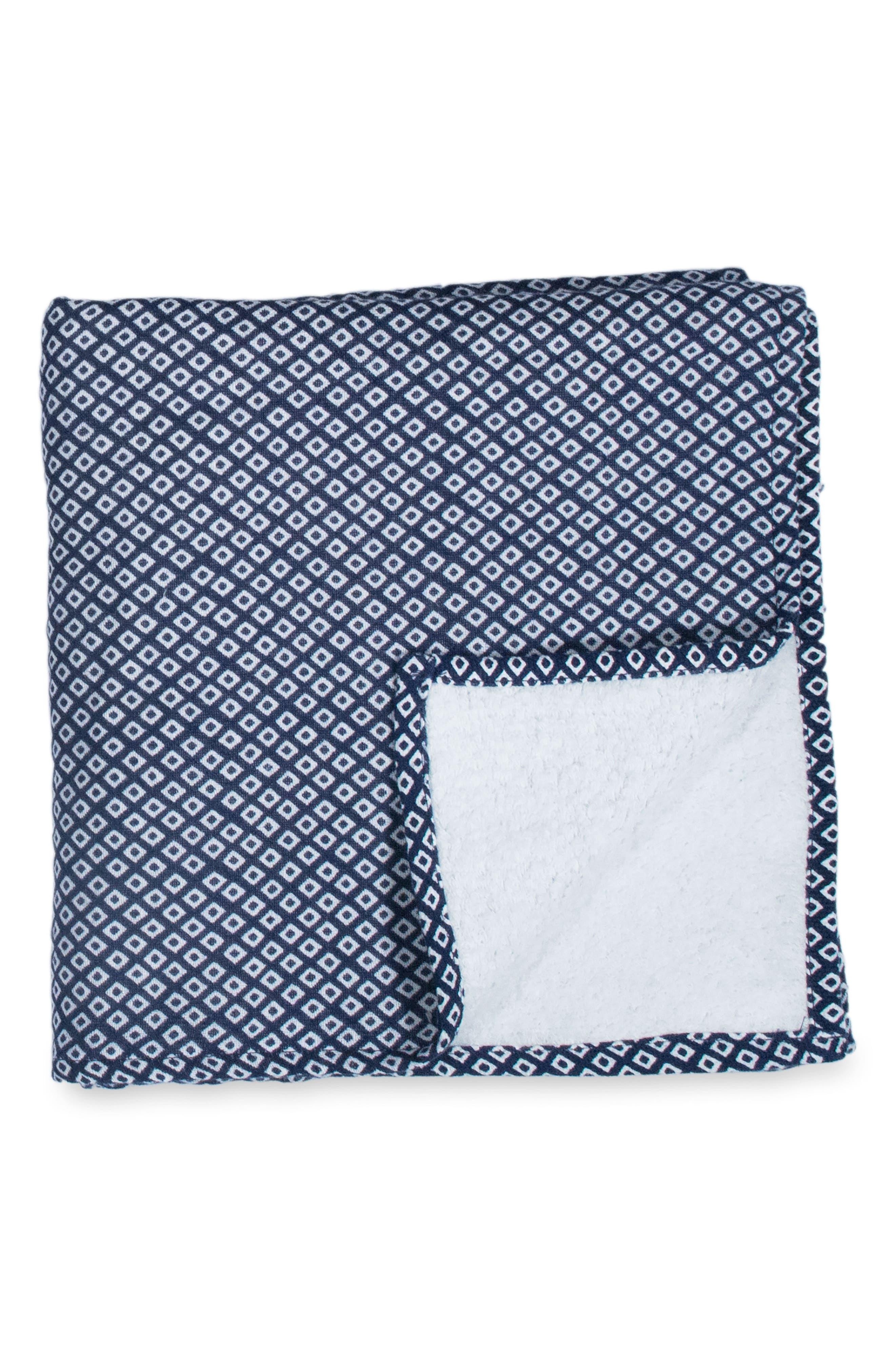 Zero Twist Print Washcloth,                         Main,                         color, DARK BLUE