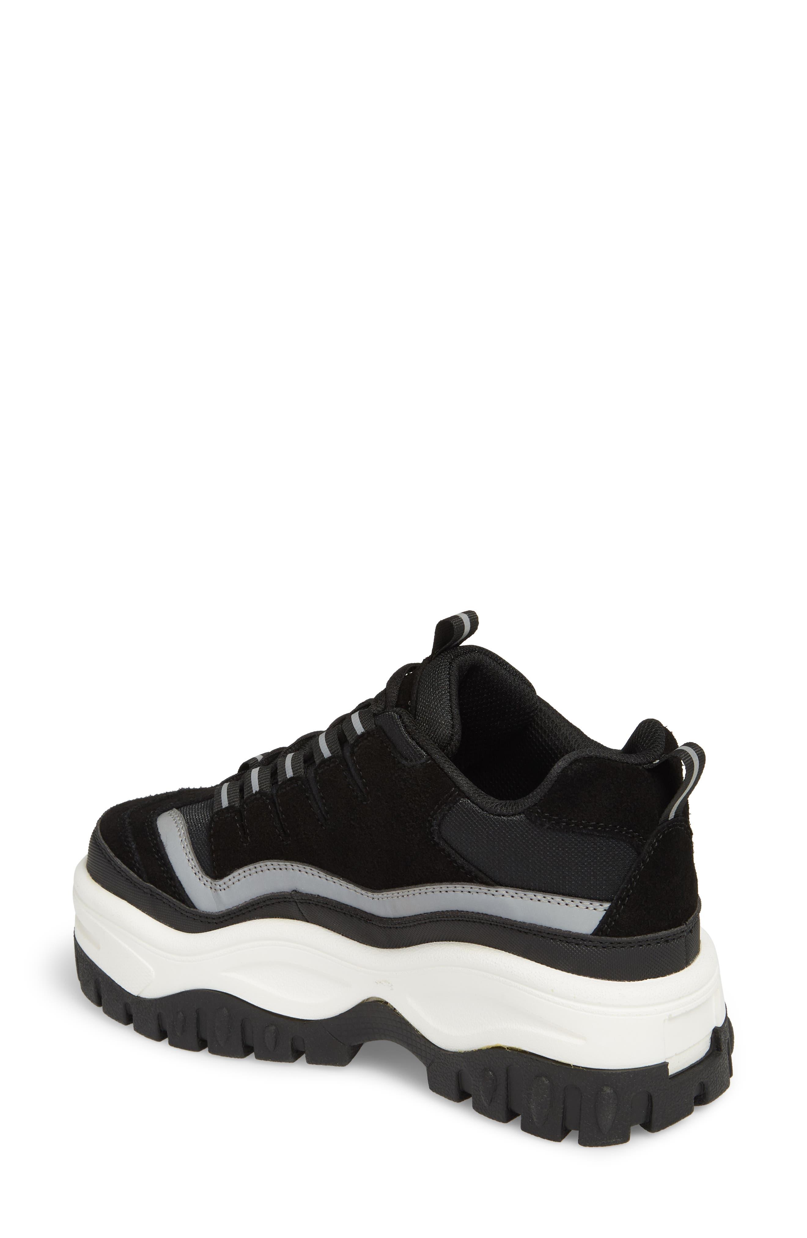 Pro Era Platform Sneaker,                             Alternate thumbnail 2, color,                             BLACK SUEDE REFLECTIVE