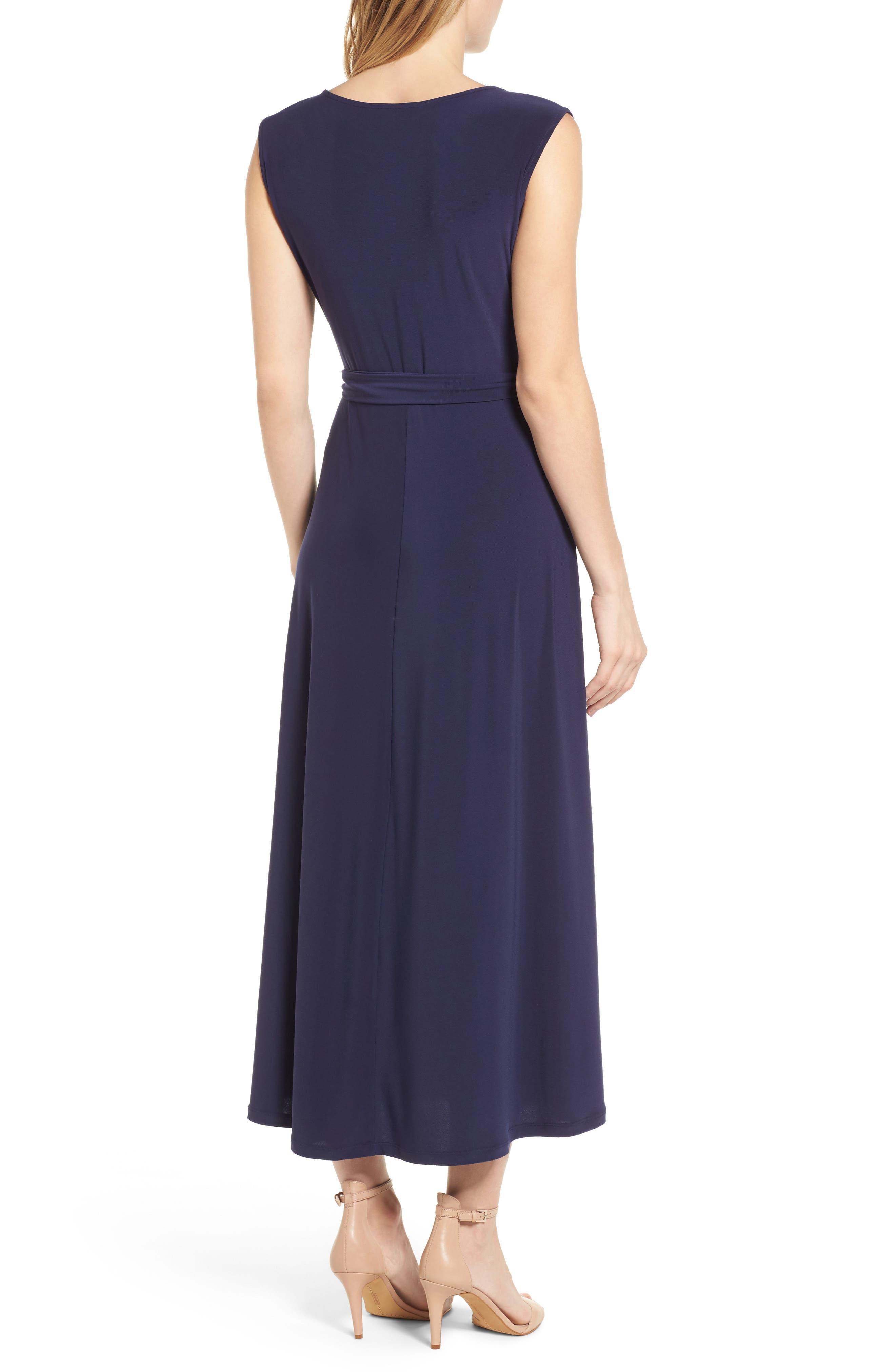 Cap Sleeve Tie Waist Maxi Dress,                             Alternate thumbnail 2, color,                             400