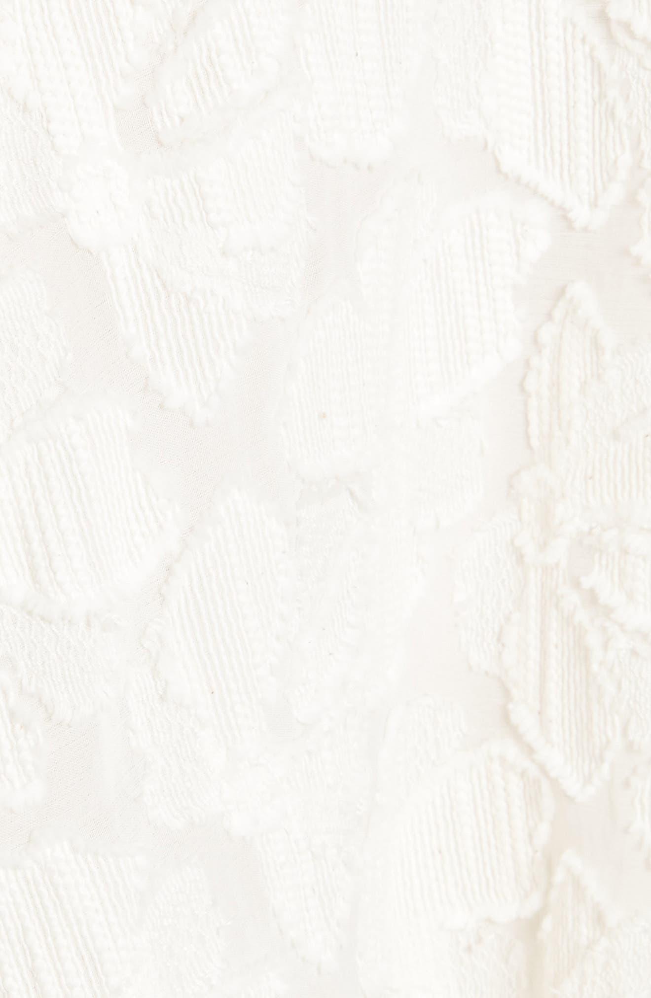 Pleated Fil Coupé Midi Skirt,                             Alternate thumbnail 5, color,                             900