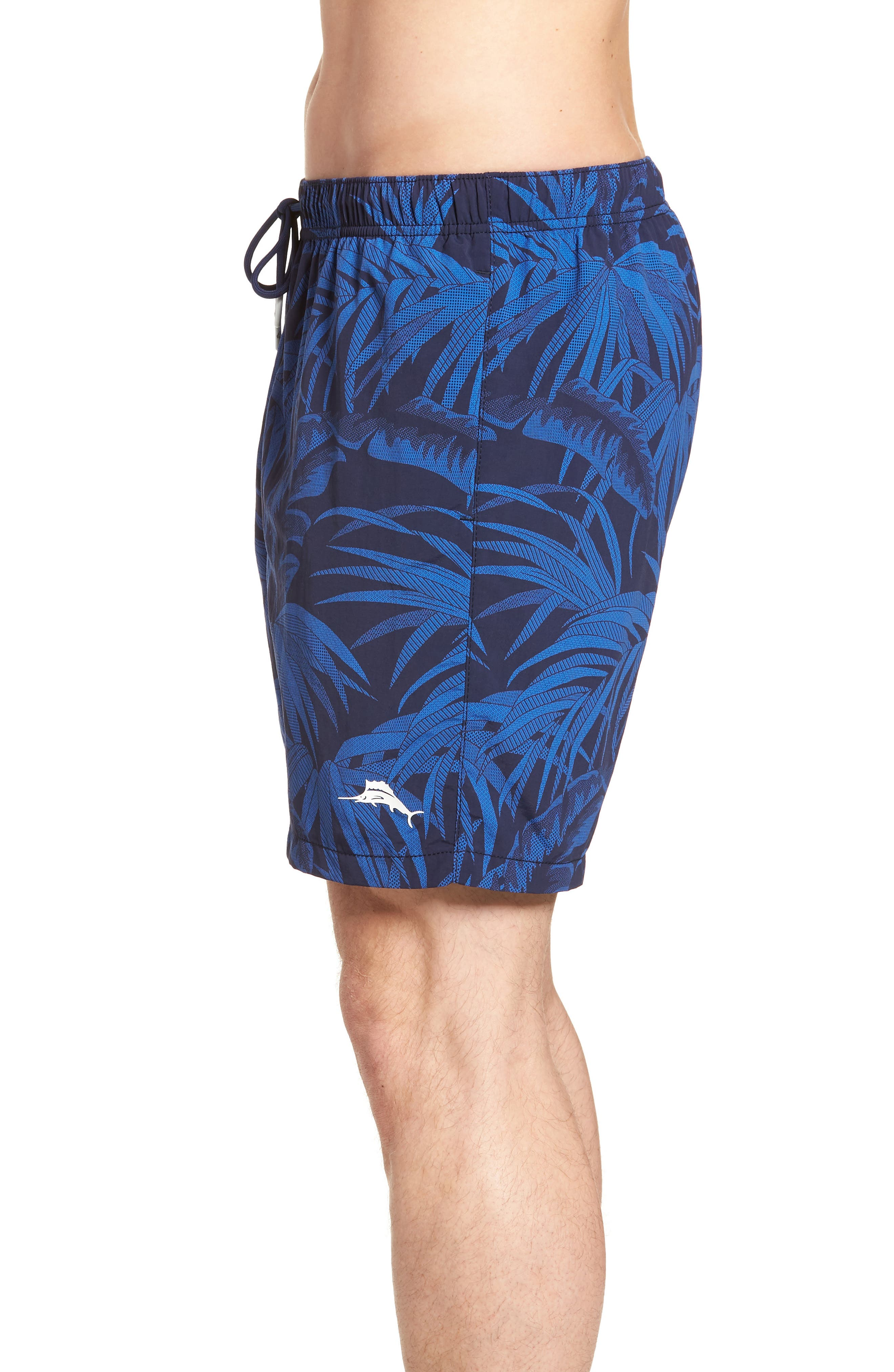 Naples Midnight Flora Swim Trunks,                             Alternate thumbnail 4, color,                             400