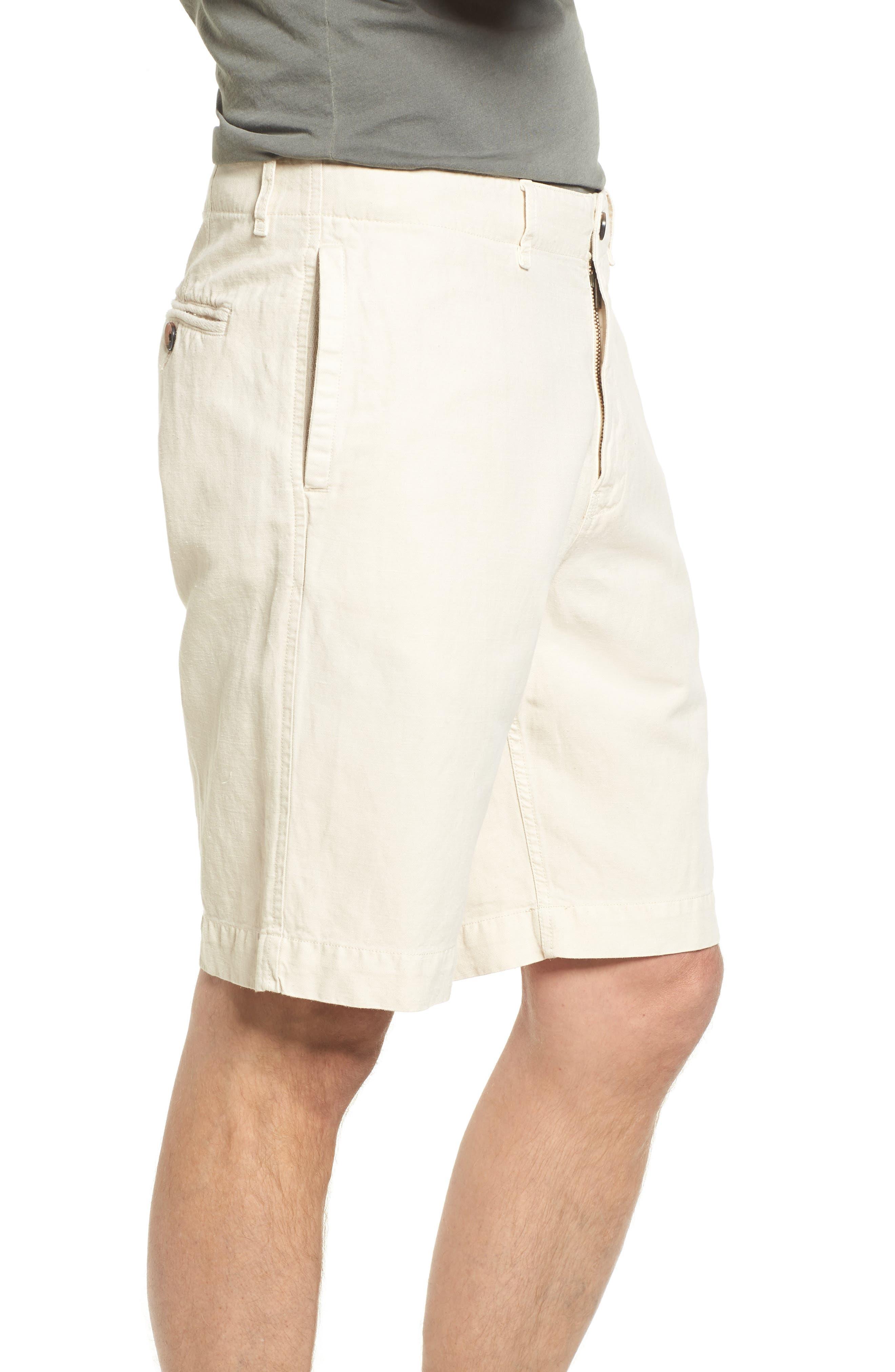 Clyde Cotton & Linen Shorts,                             Alternate thumbnail 3, color,                             EGGSHELL