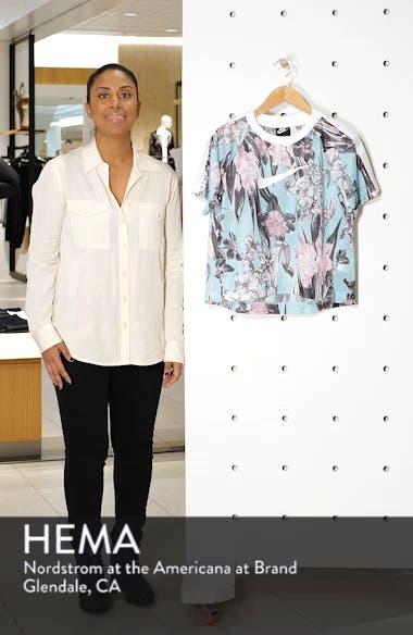 Sportswear Floral Print Mesh Top, sales video thumbnail