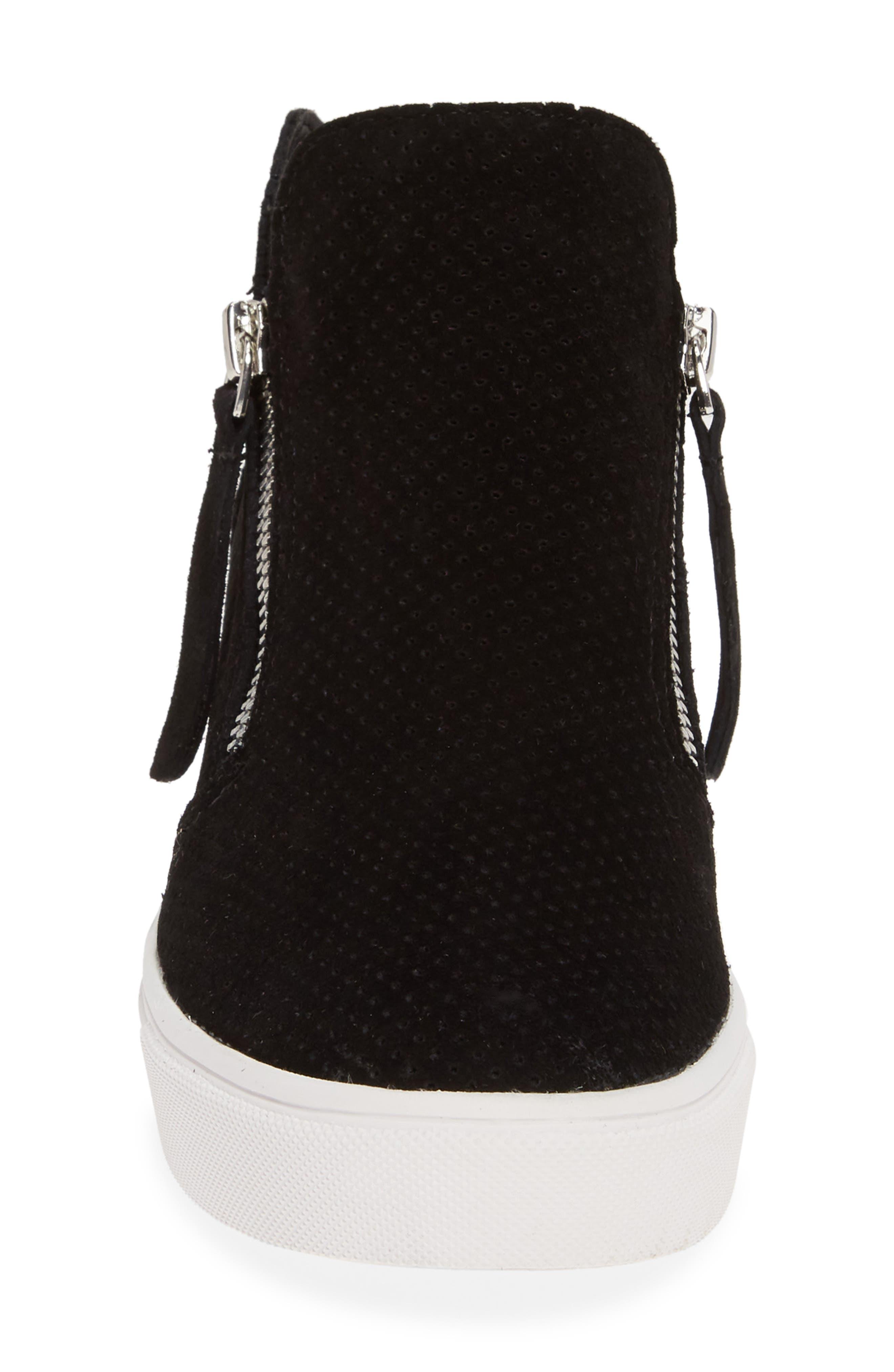STEVE MADDEN,                             Caliber High Top Sneaker,                             Alternate thumbnail 4, color,                             BLACK SUEDE