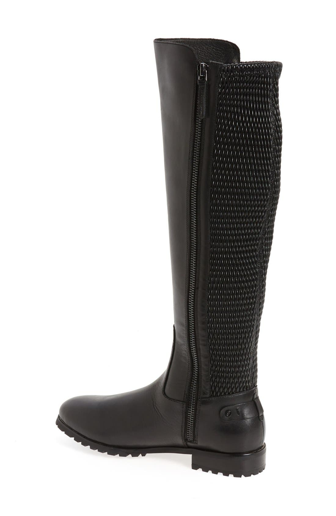 'Fabiana' Tall Boot,                             Alternate thumbnail 2, color,                             BLACK LEATHER