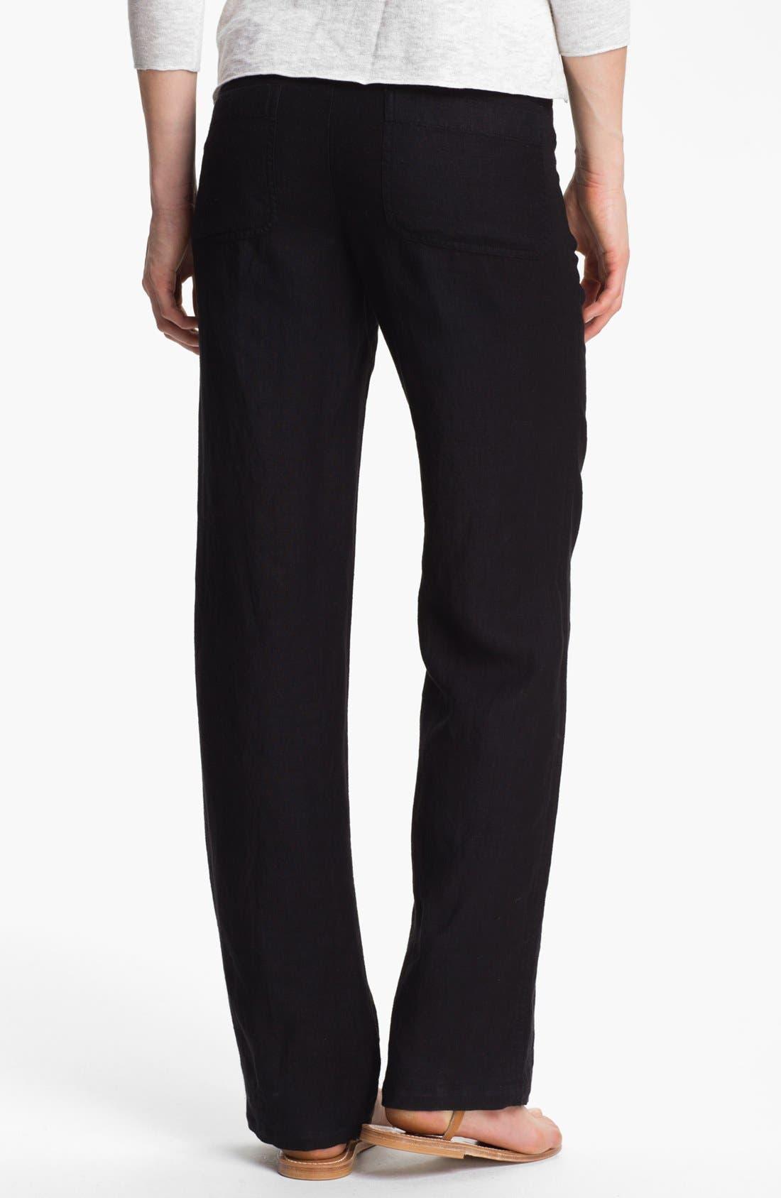 Linen Pants,                             Alternate thumbnail 2, color,                             001