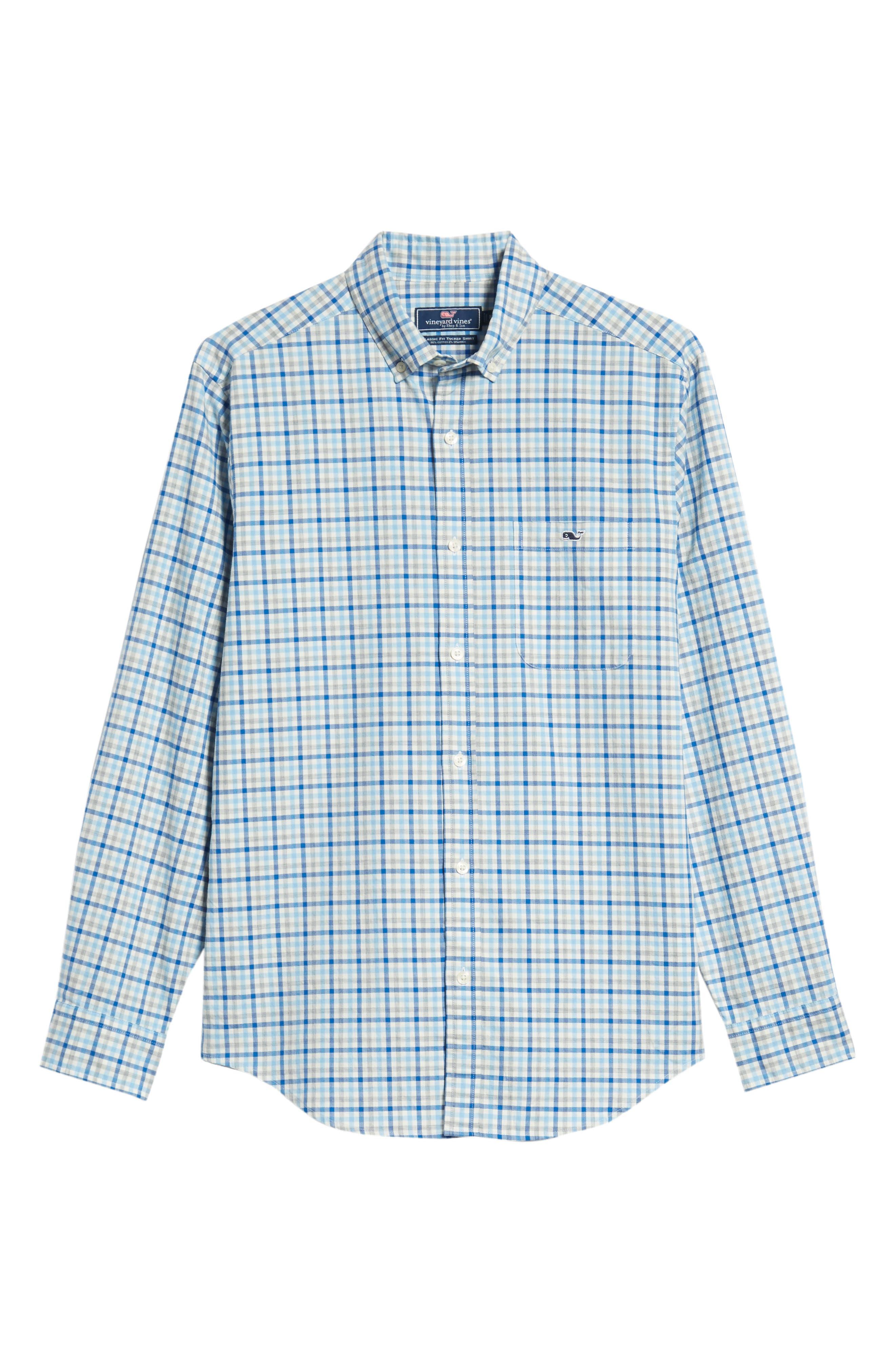 Pondview Regular Fit Check Sport Shirt,                             Alternate thumbnail 5, color,                             484