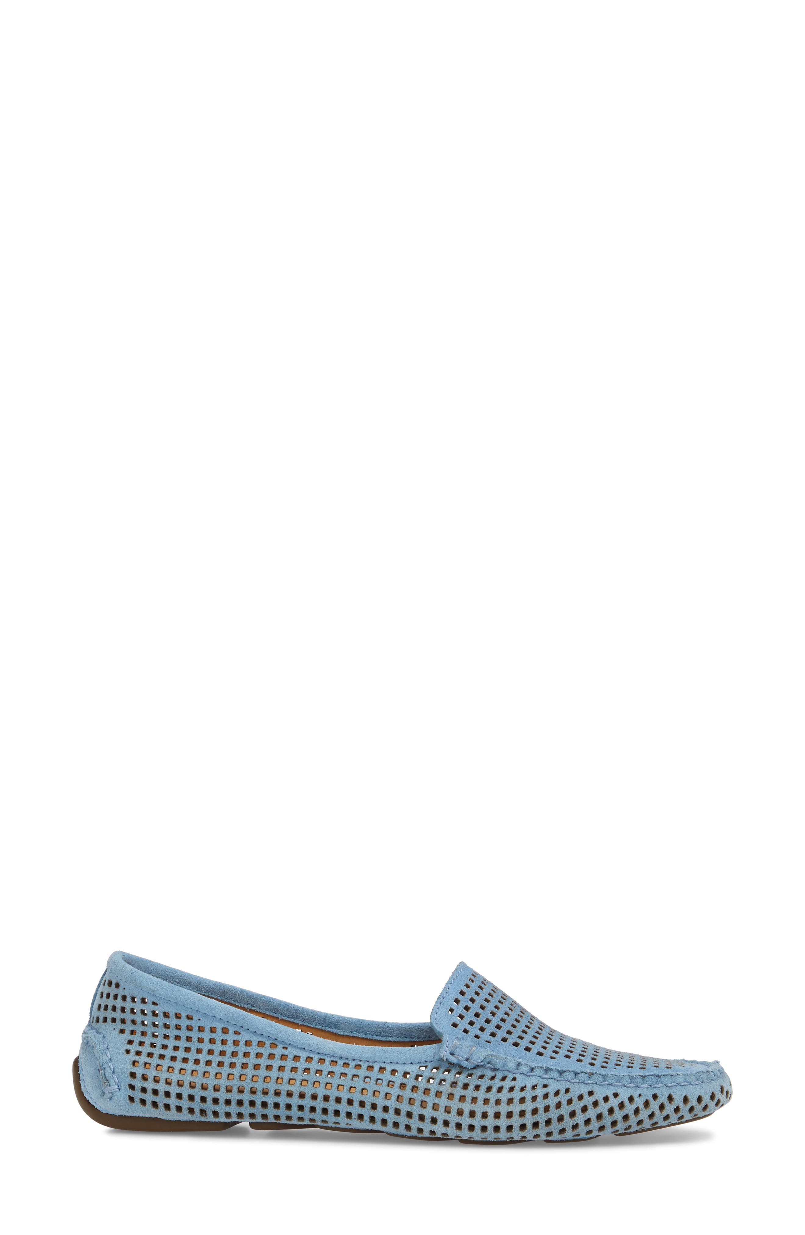 'Barrie' Flat,                             Alternate thumbnail 3, color,                             FRENCH BLUE SUEDE