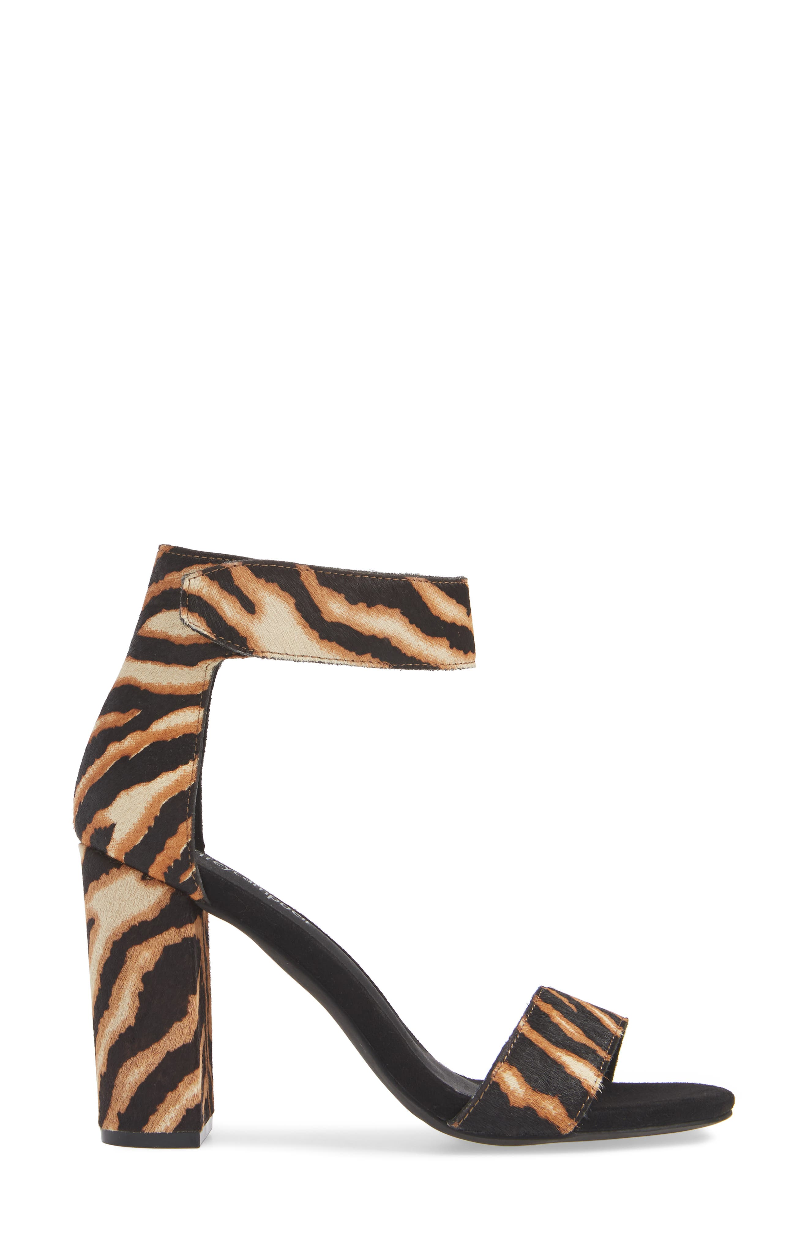 JEFFREY CAMPBELL,                             Lindsay Genuine Calf Hair Ankle Strap Sandal,                             Alternate thumbnail 3, color,                             BEIGE ZEBRA PRINT LEATHER