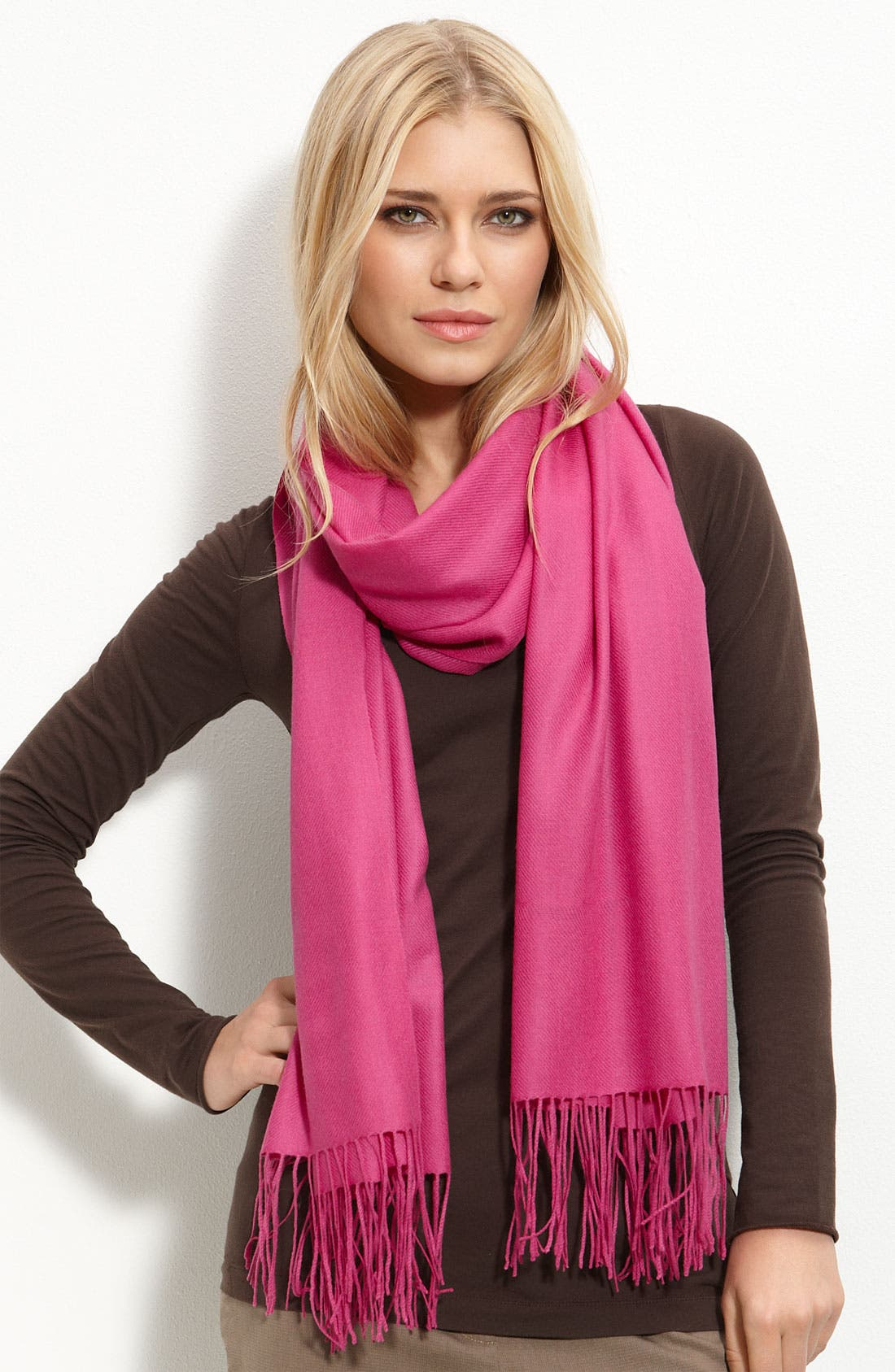 Tissue Weight Wool & Cashmere Wrap,                             Main thumbnail 100, color,