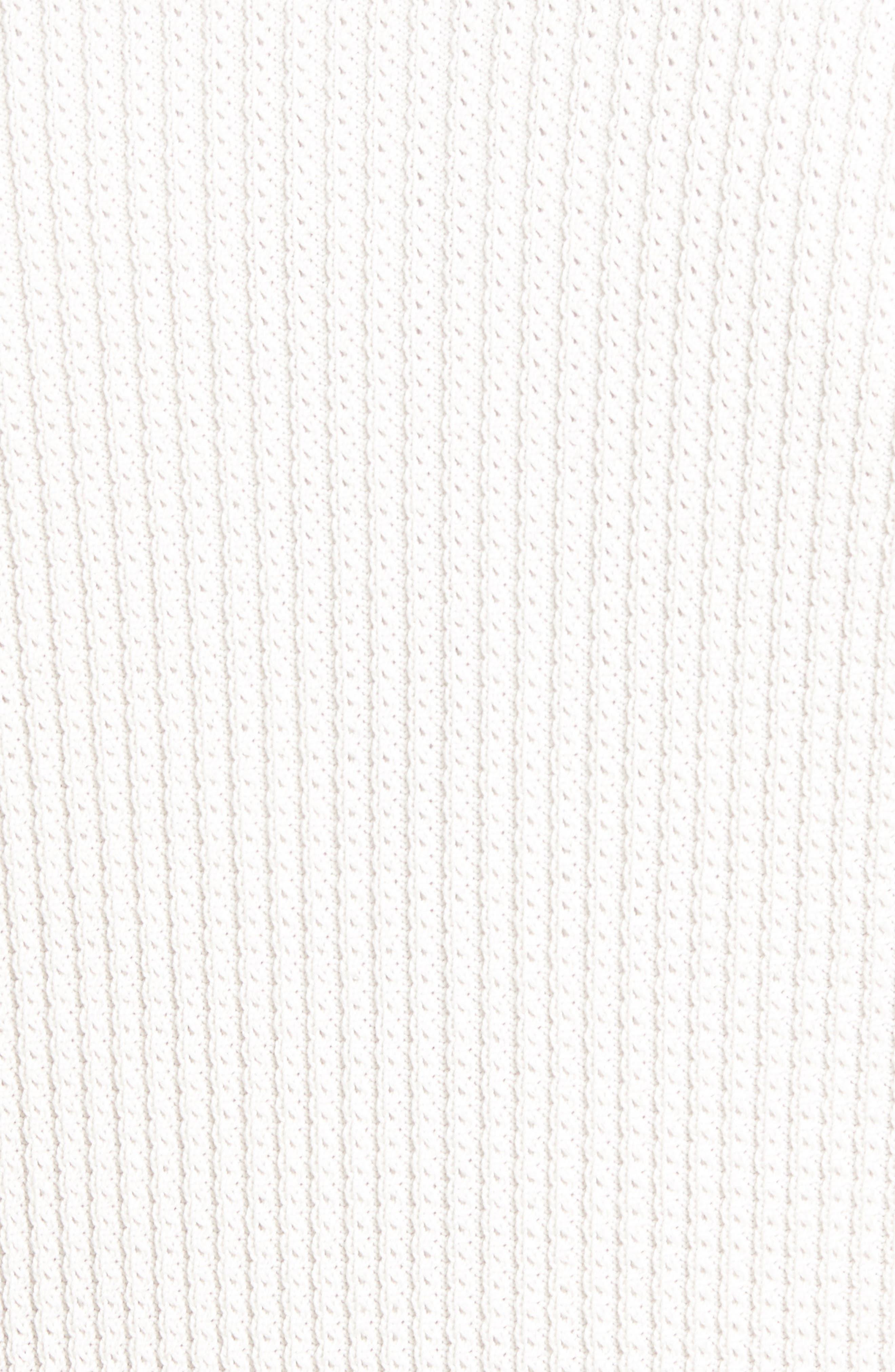 Slim Fit Thermal Knit Raglan Sweater,                             Alternate thumbnail 5, color,                             100