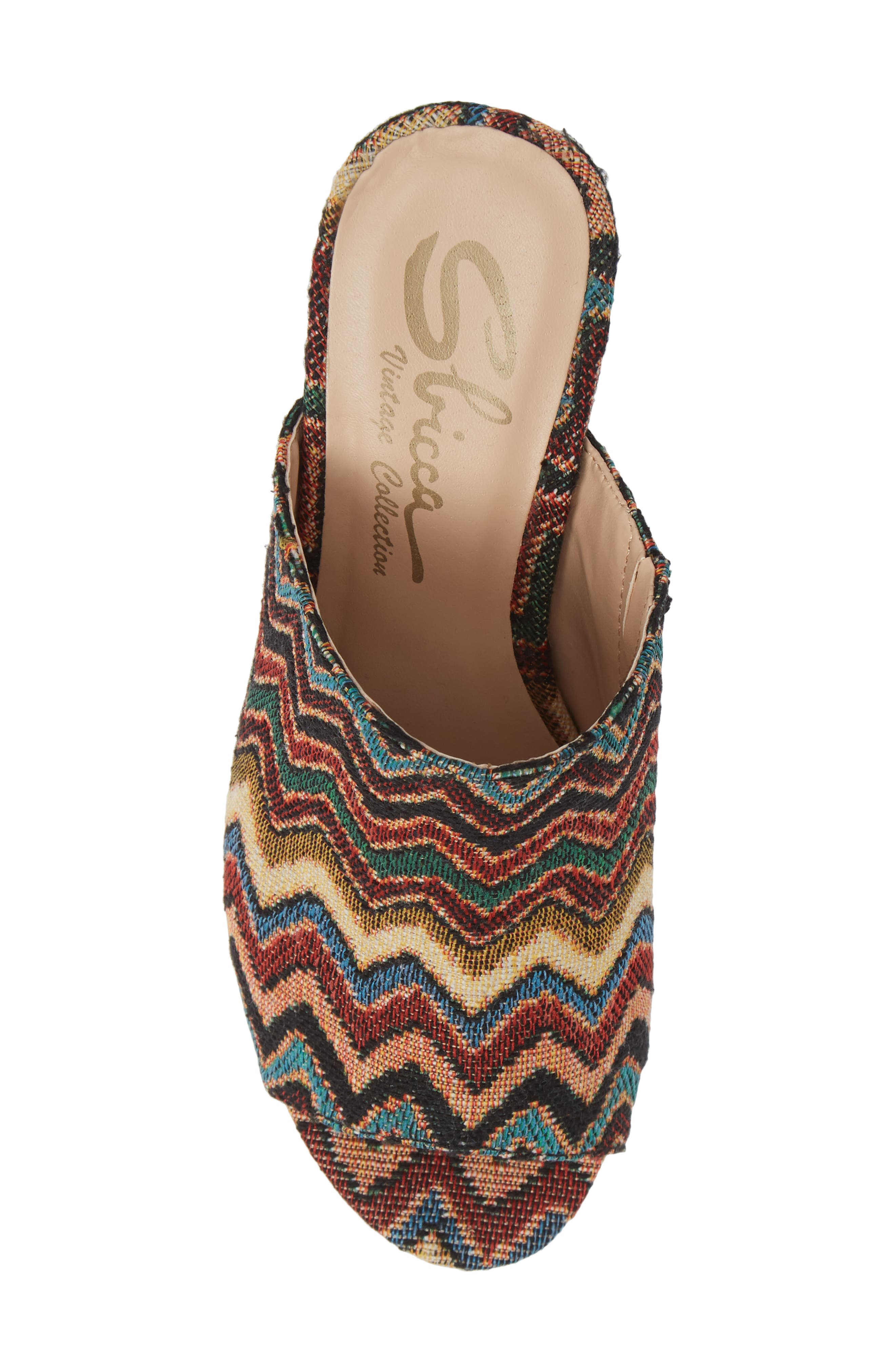 Helena Sandal,                             Alternate thumbnail 5, color,                             MULTICOLOR FABRIC