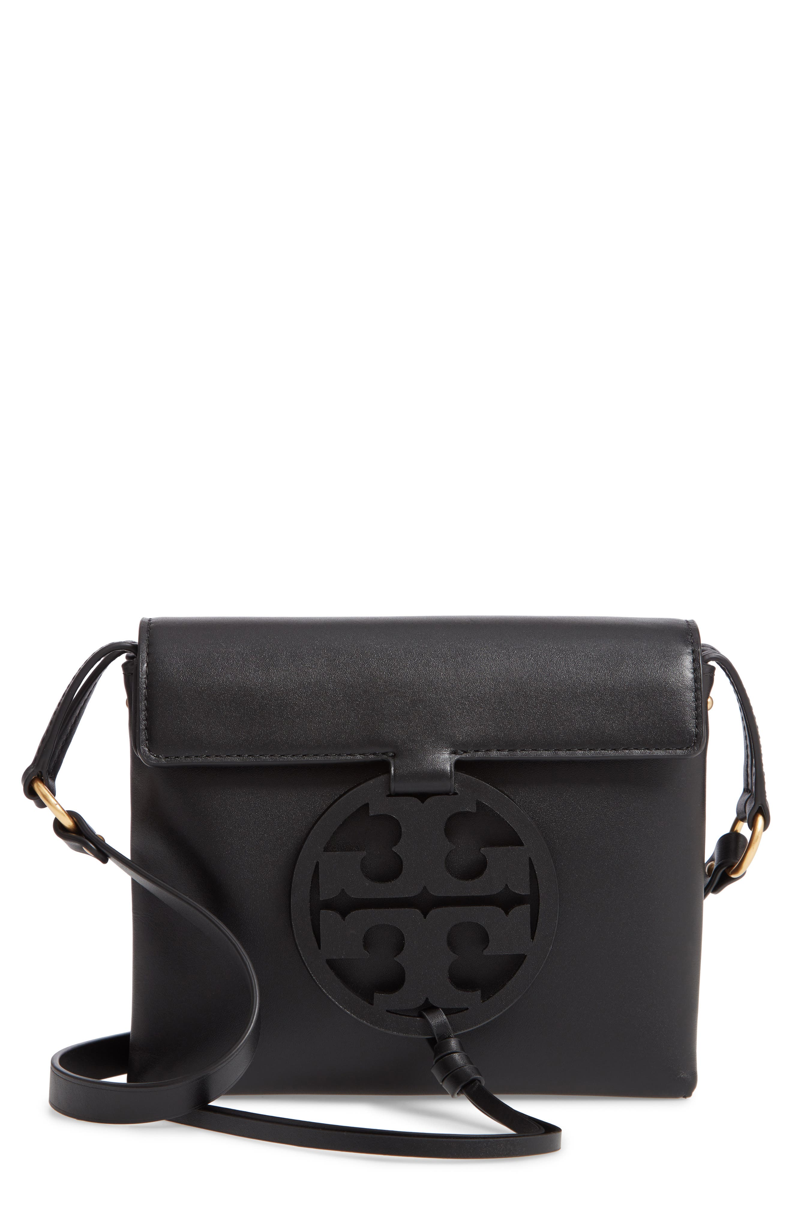 Miller Leather Crossbody Bag,                             Main thumbnail 1, color,                             BLACK