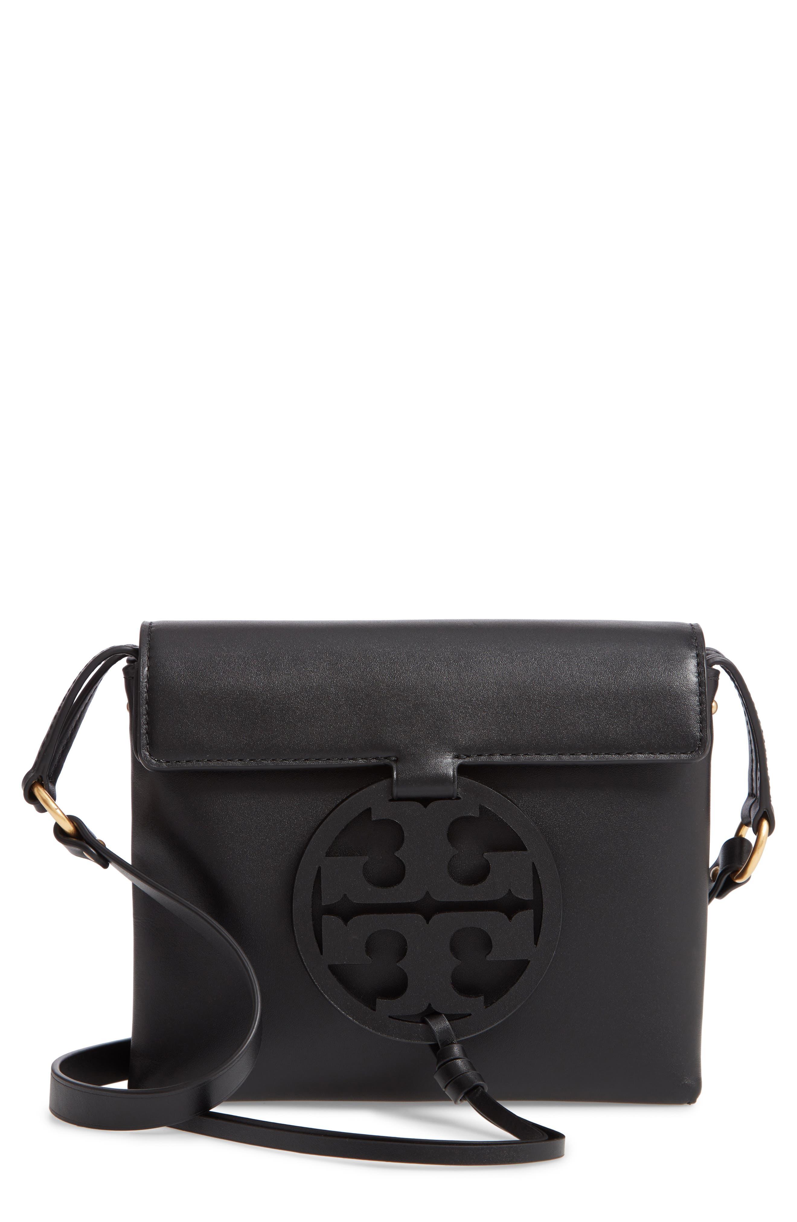 Miller Leather Crossbody Bag,                         Main,                         color, BLACK